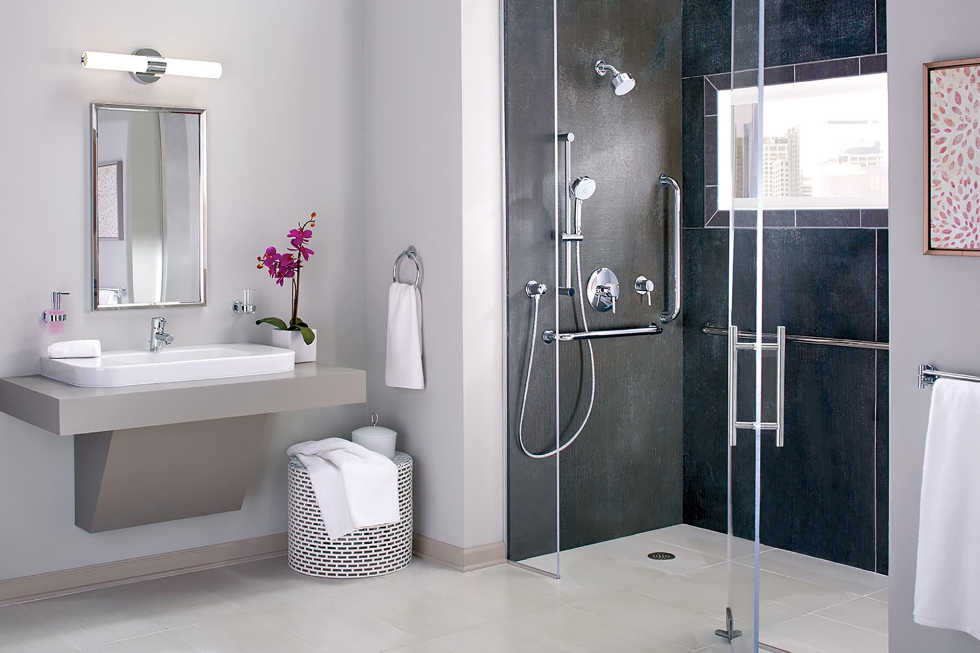 Grohe 35075EN1 Brushed Nickel Concetto Single Lever Shower Trim Only ...