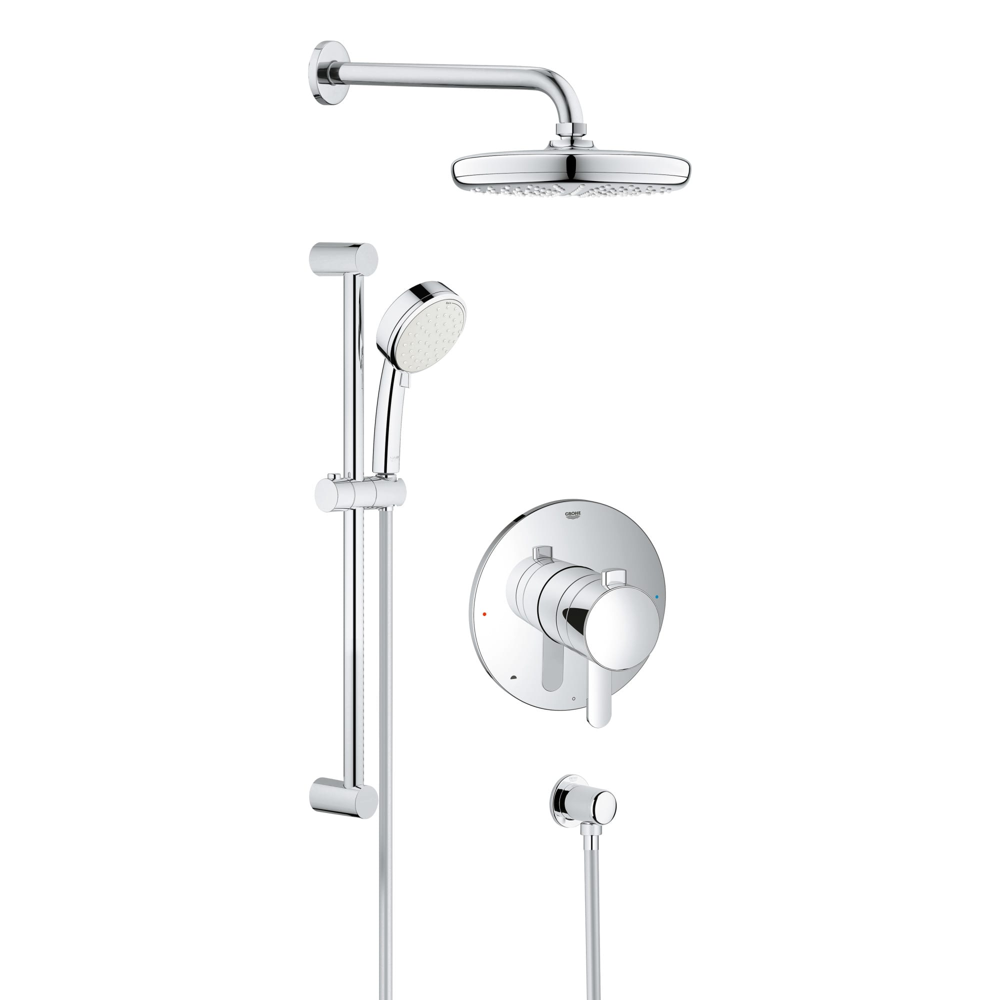 euphoria mounting of best thermostat for b with xxl systems wall grohe system thermostatic shower mixer