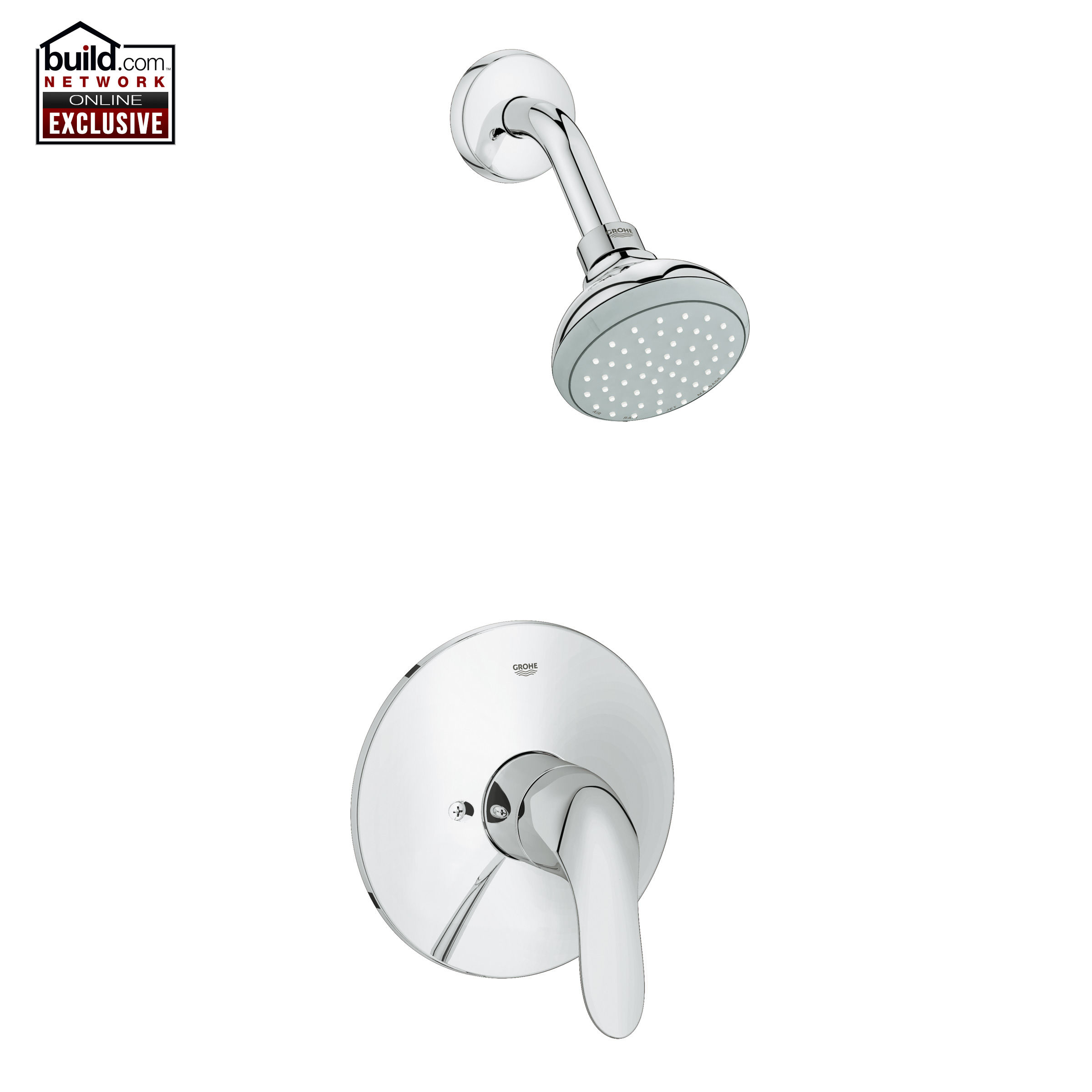 Grohe 35048000 Starlight Chrome Agira Shower Trim Package with Multi ...