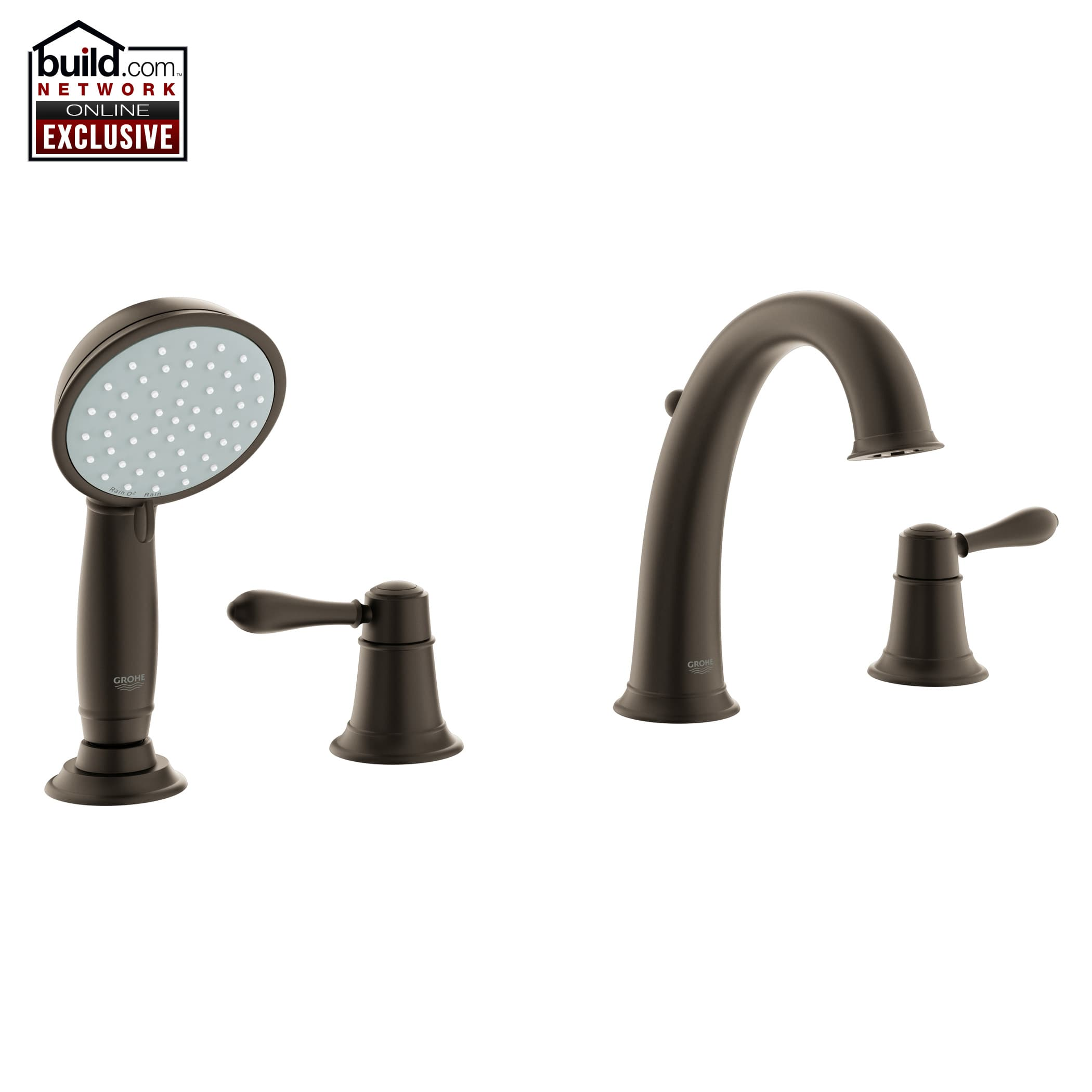 Grohe 25162ZC0 Oil Rubbed Bronze Fairborn Deck Mounted Roman Tub ...