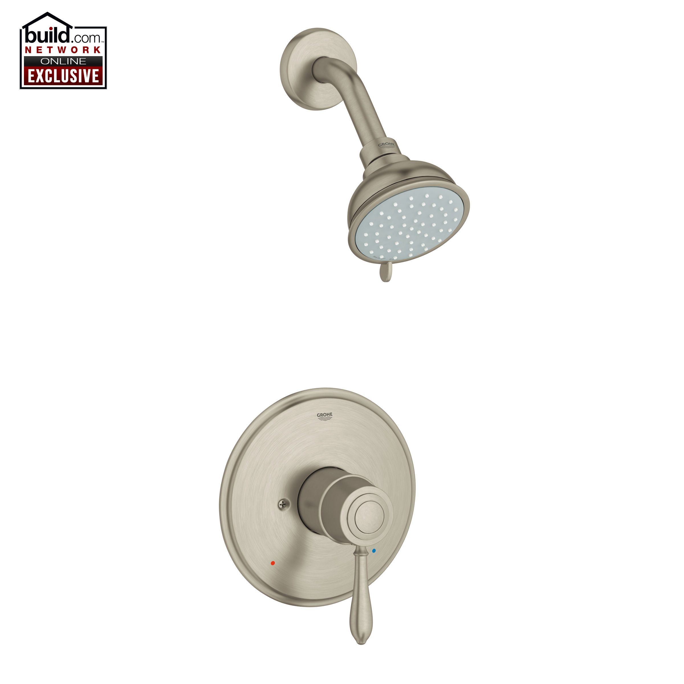 Grohe 35046EN1 Brushed Nickel Fairborn Shower Trim Package with ...