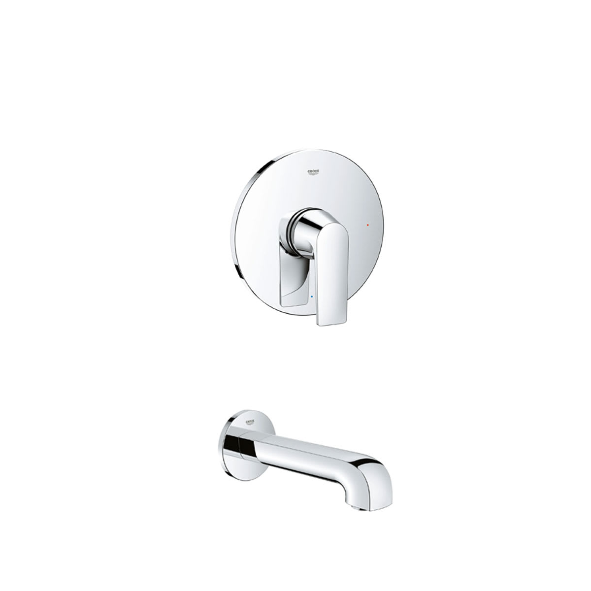 Grohe Gr Defined Tub 1 000 Starlight Chrome Defined Tub Only Package Includes Tub Faucet Valve Trim And Rough In Faucetdirect Com