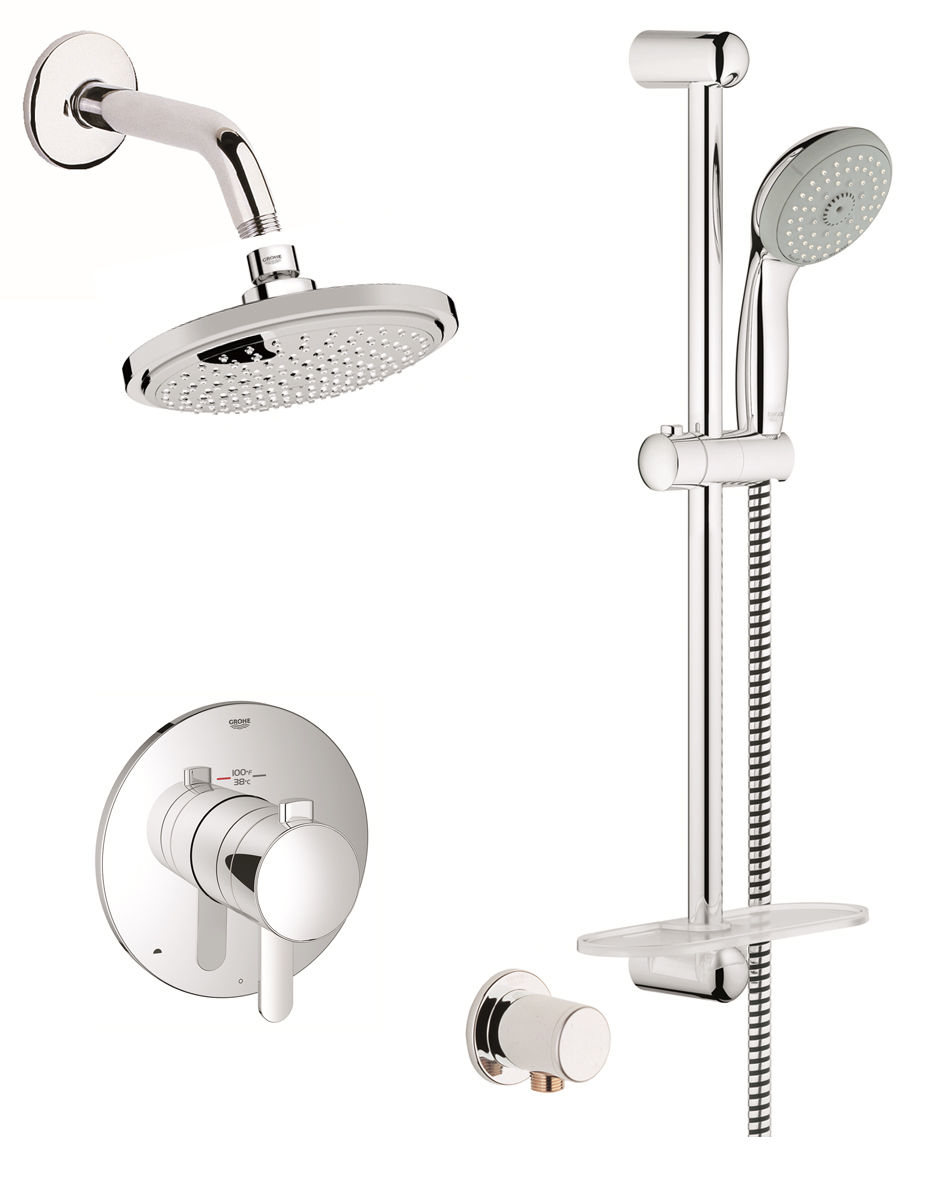 Grohe GSS-Europlus-DTH-03-000 Starlight Chrome Europlus Thermostatic ...