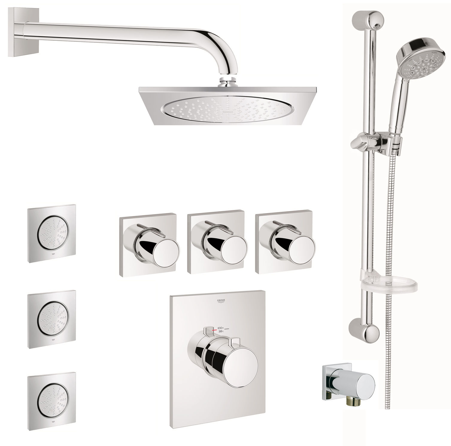 euphoria dp rail massage grohe set about shower