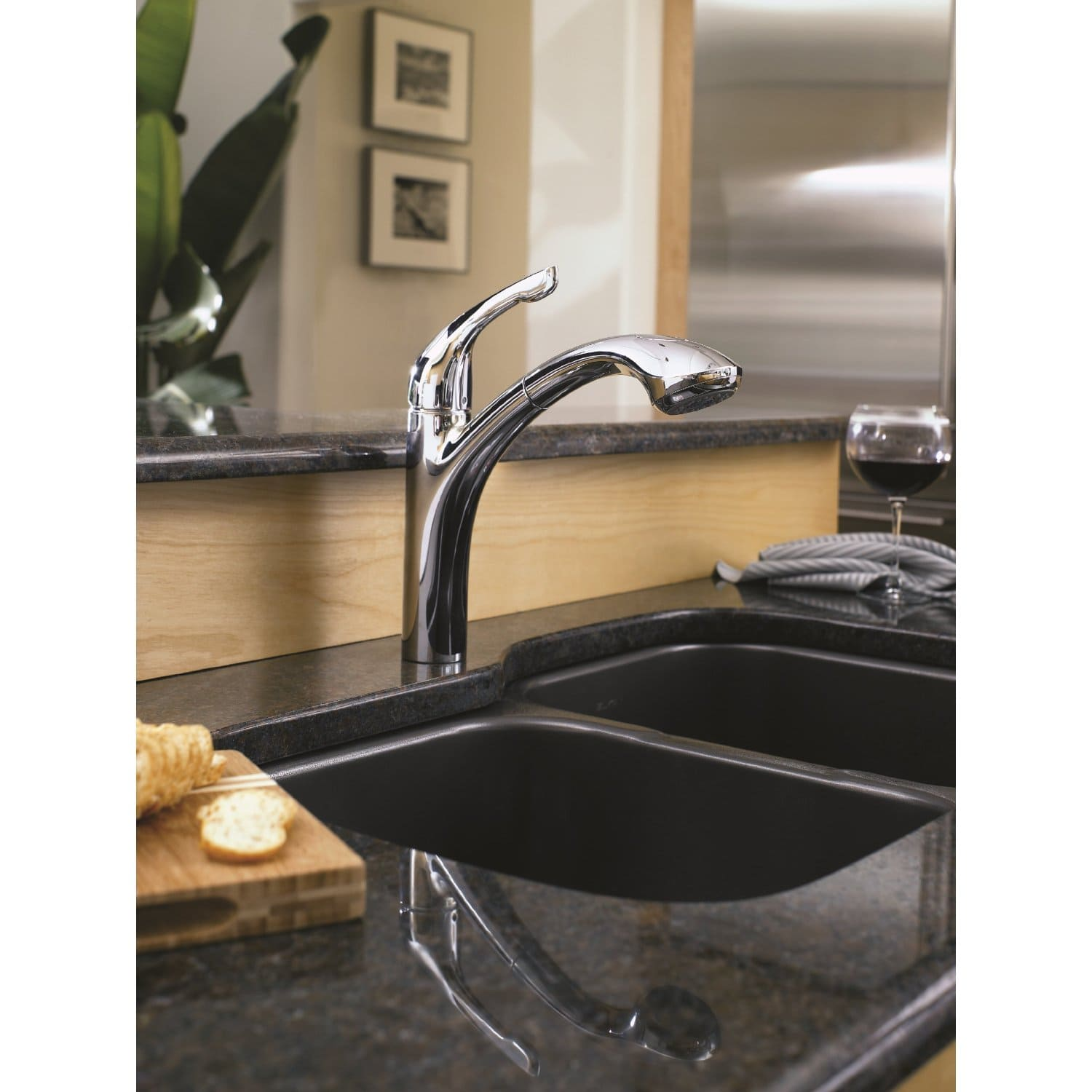 Hansgrohe 04076000 Chrome Allegro E Pull Out Kitchen Faucet With