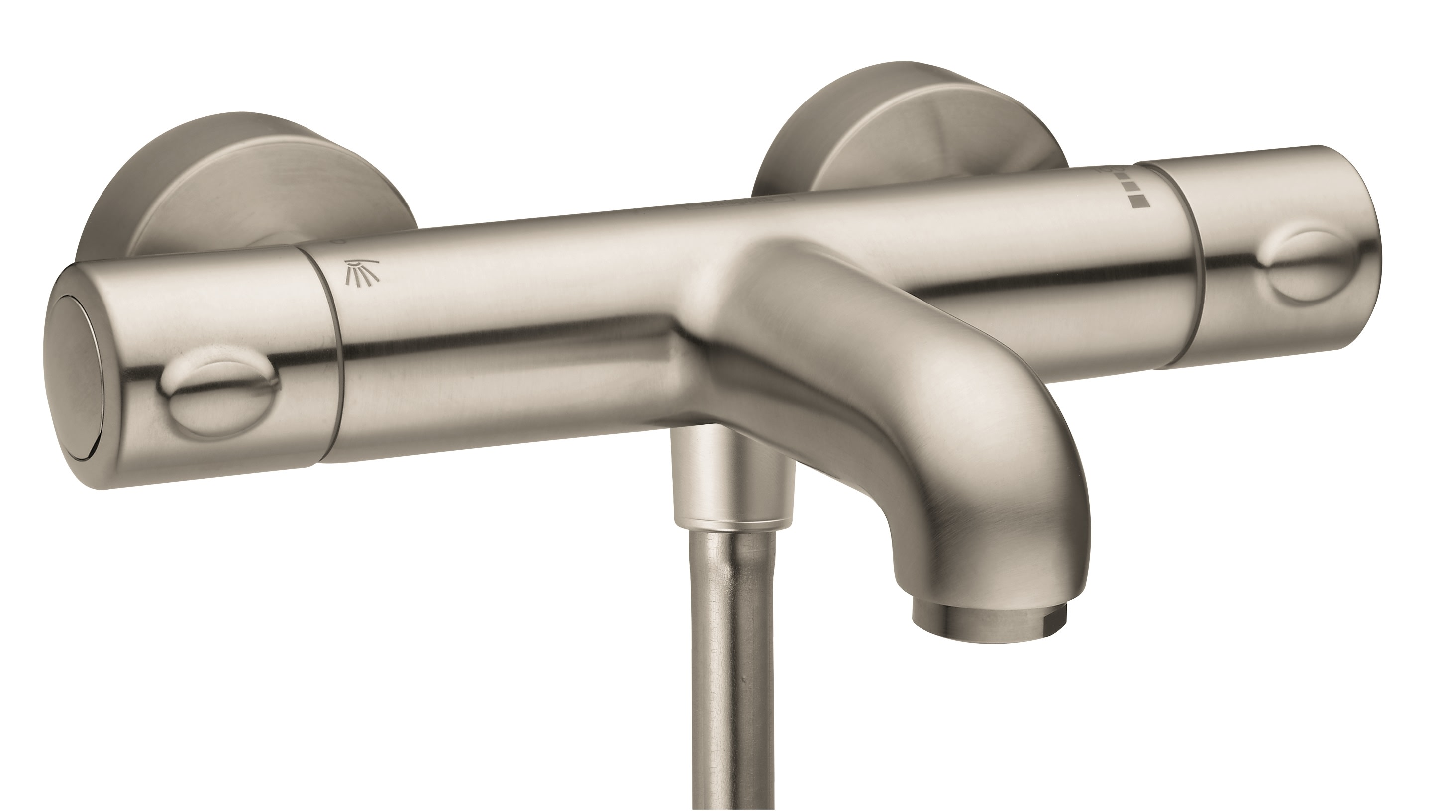 Hansgrohe 13241001 Chrome Showerpower Exposed Tub Shower Thermostat Active Bath And Faucet Filler With 1 2 In Hand Hose Connection
