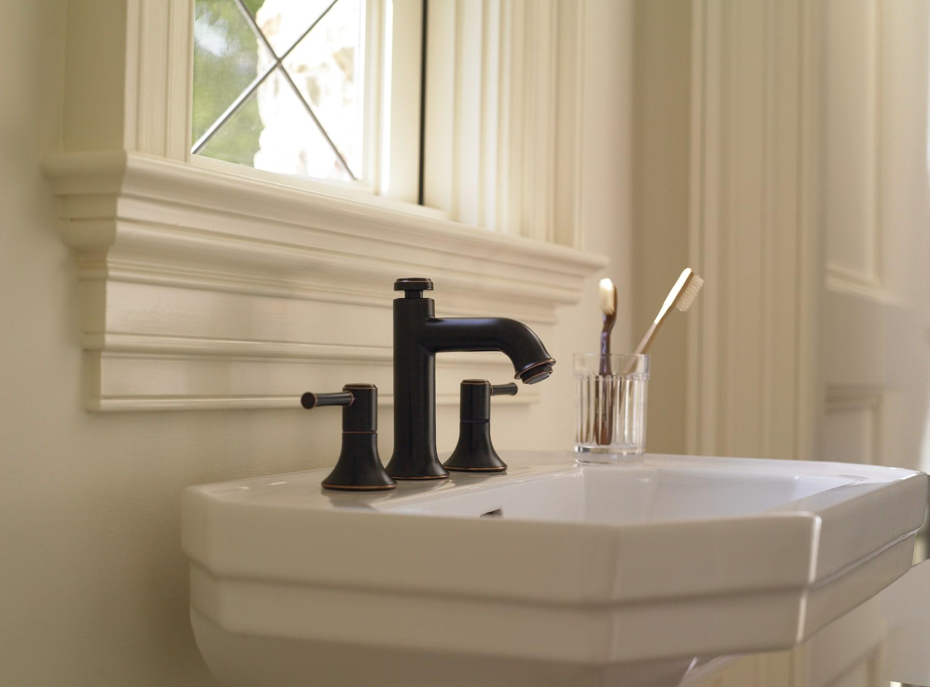 Hansgrohe 14113921 Rubbed Bronze Talis C 1.2 GPM Widespread Bathroom ...