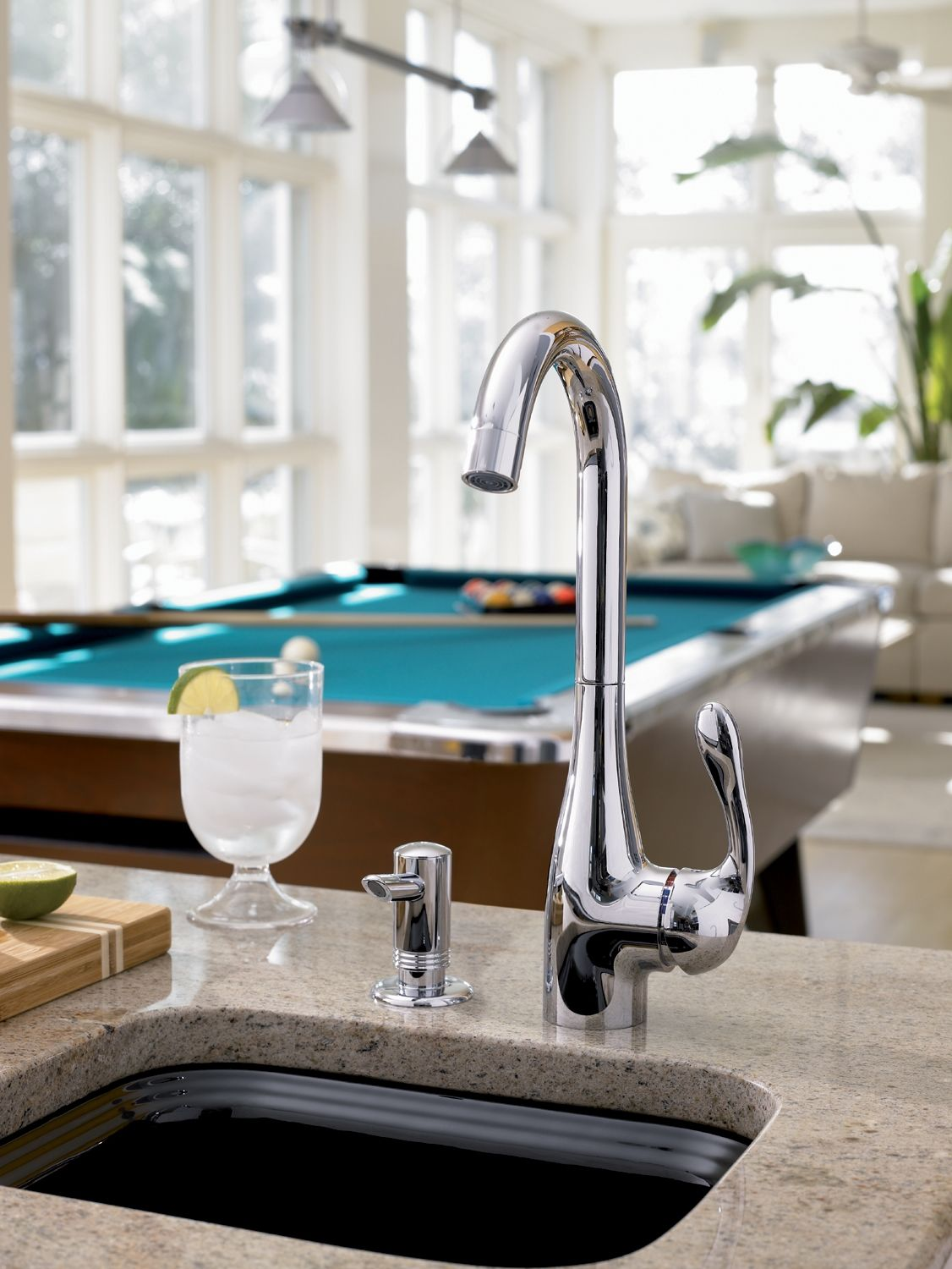 Hansgrohe 14801001 Chrome Allegro E High-Arch Bar Faucet with Quick ...