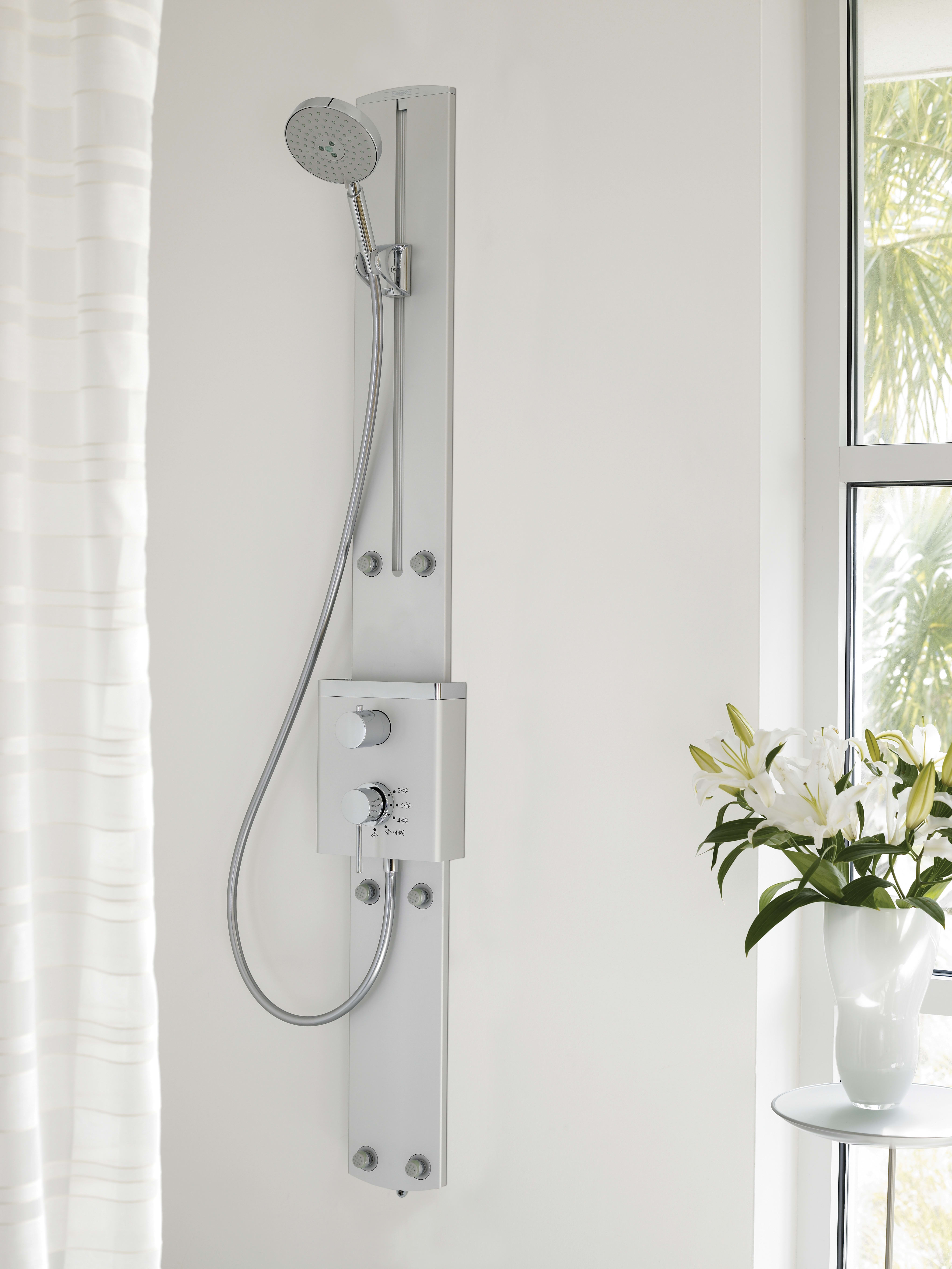 Hansgrohe 27005821 Brushed Nickel ShowerPower Shower Panel with ...