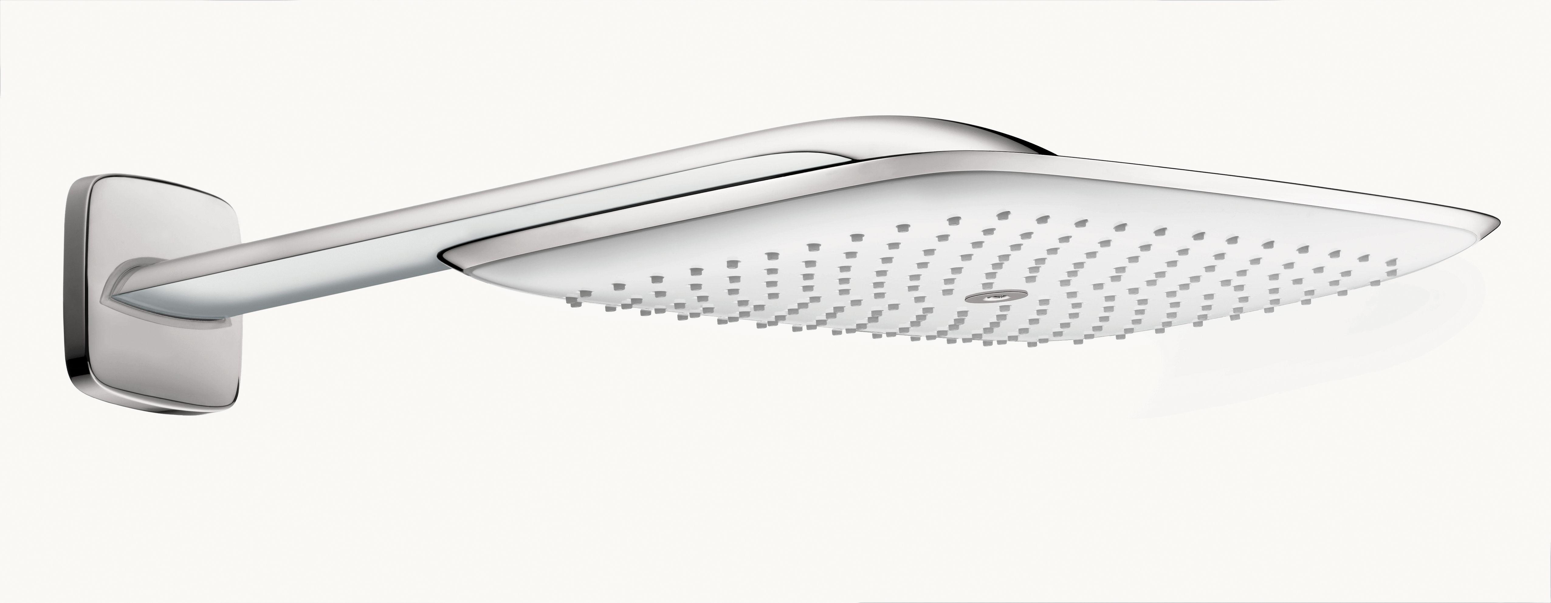 Hansgrohe 27437401 Chrome / White PuraVida Rain 2.5 GPM Shower Head ...