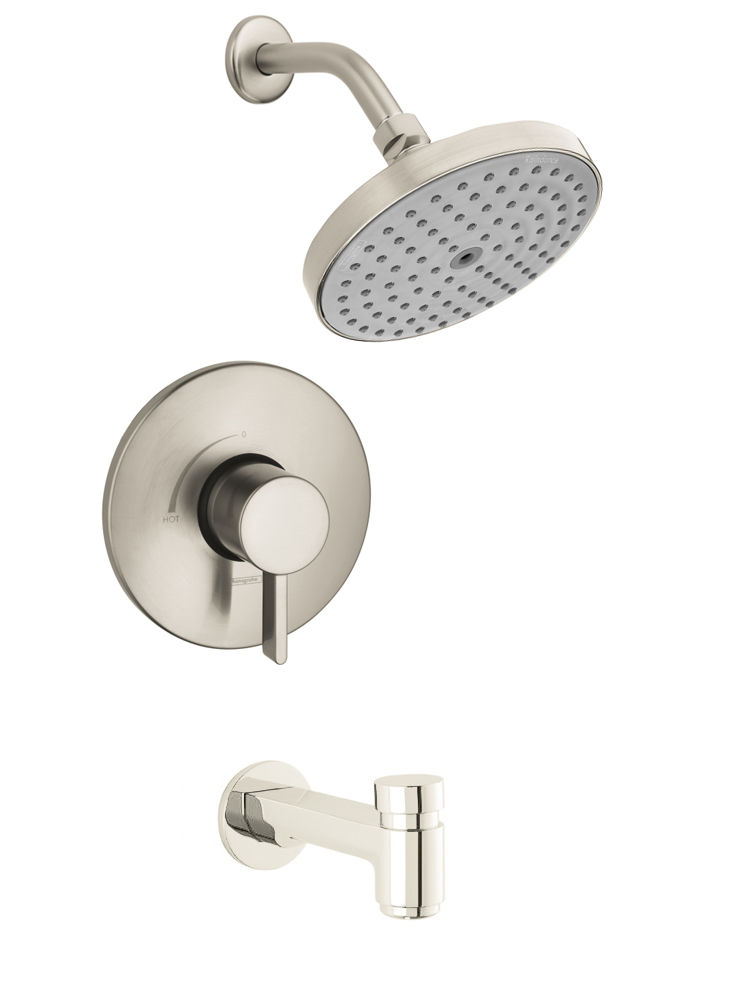 Hansgrohe undefined Brushed Nickel S Tub and Shower Valve Trim ...