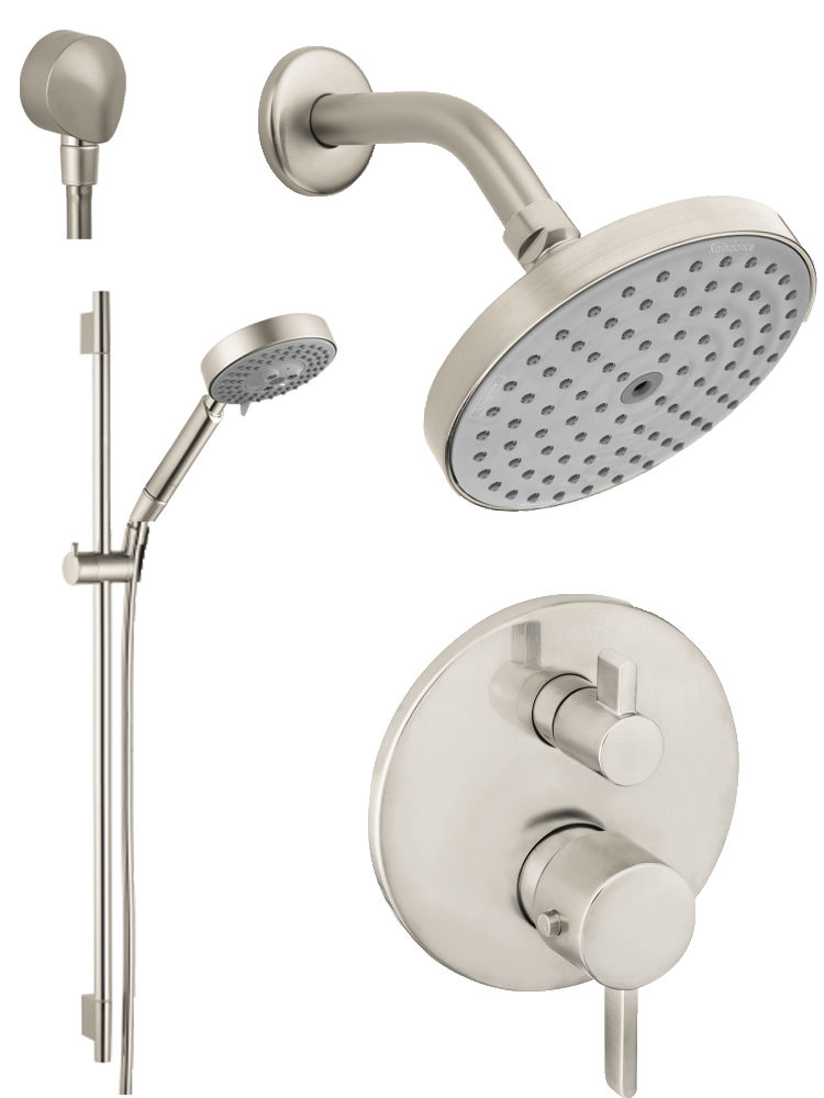 Hansgrohe HG-T201BN Brushed Nickel S Thermostatic Shower System with ...