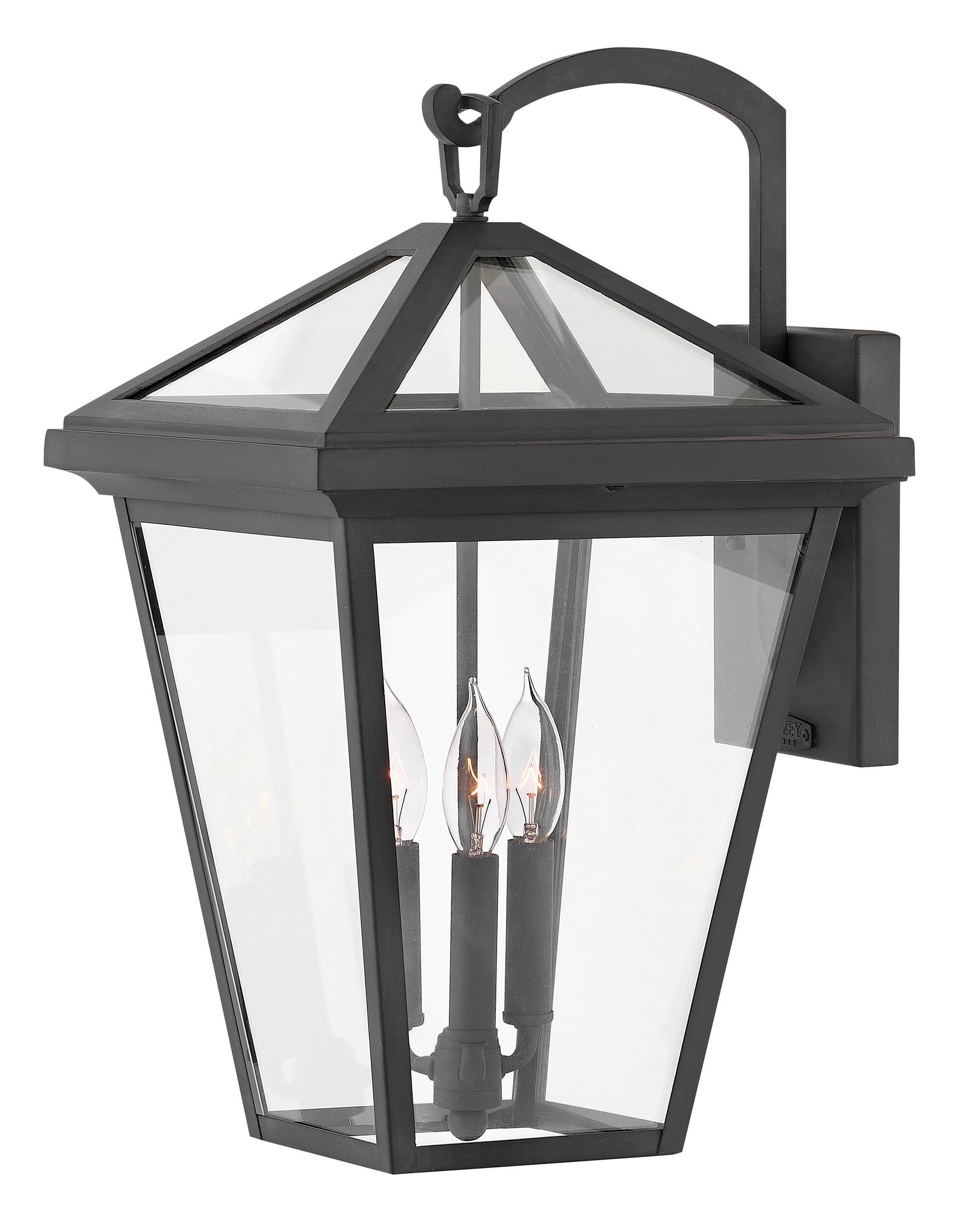 Hinkley Lighting 2565mb Museum Black Alford Place 3 Light 20 1 2 Tall Open Air Outdoor Wall Sconce Lightingdirect Com