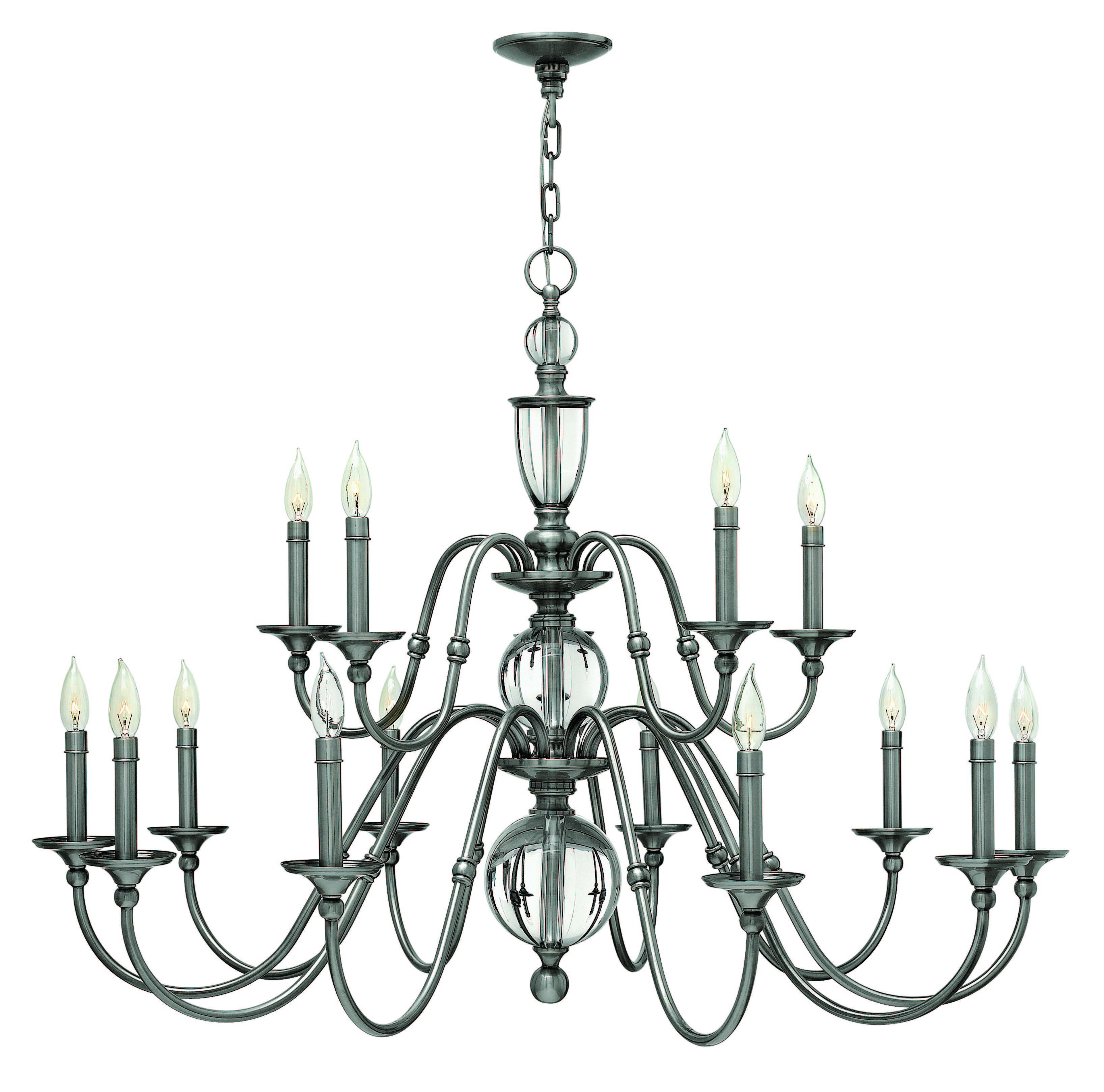 Hinkley Lighting 4959HB Heritage Brass 15 Light 2 Tier Candle