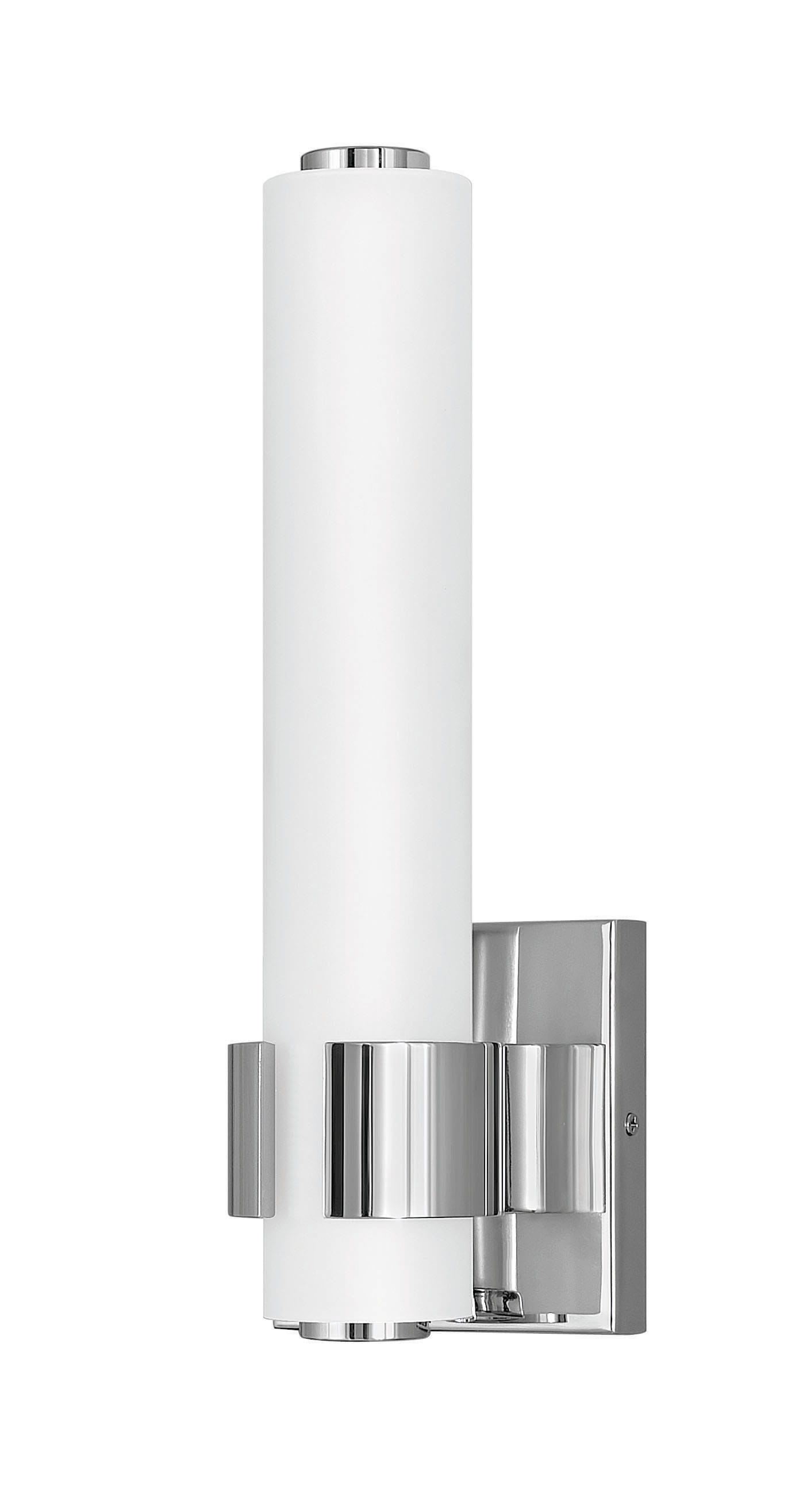 Image of: Hinkley Lighting 53060bk Black Aiden 14 Tall Integrated Led Bathroom Sconce Lightingdirect Com