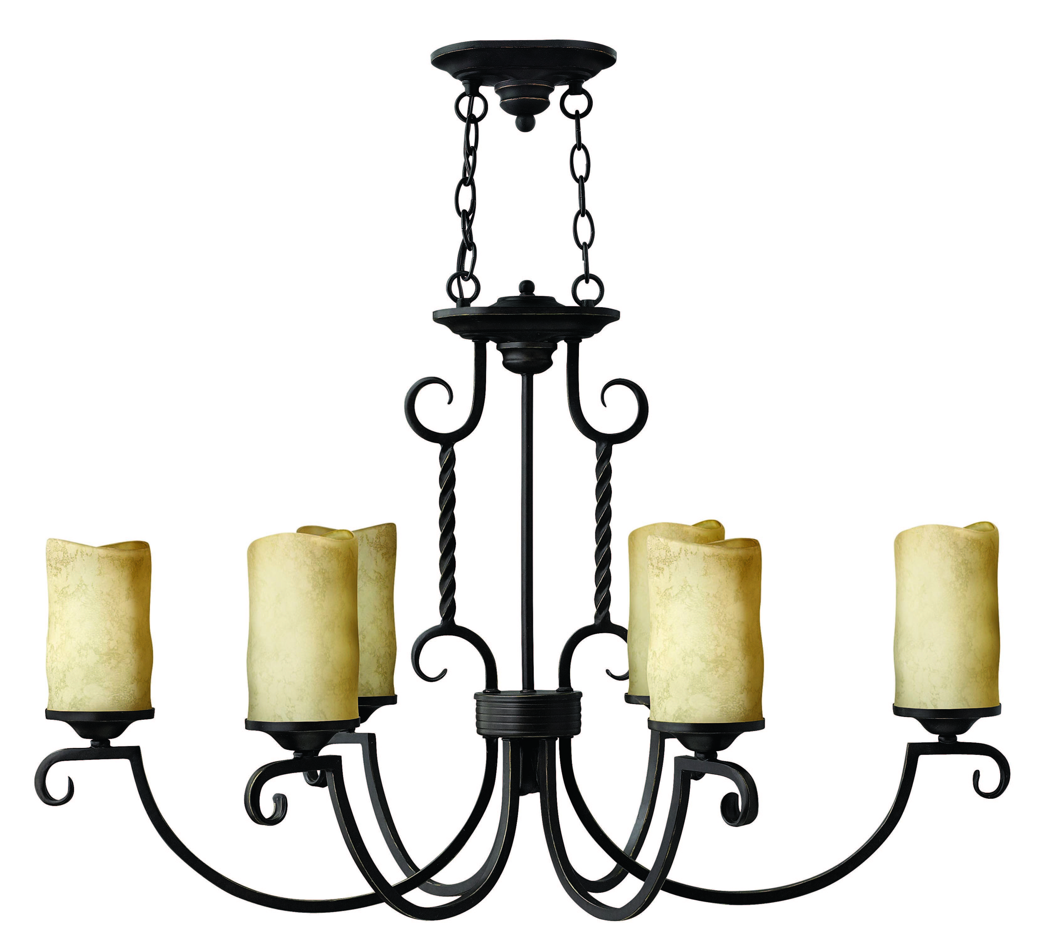 Hinkley Lighting 3508ol Olde Black Casa 6 Light 1 Tier
