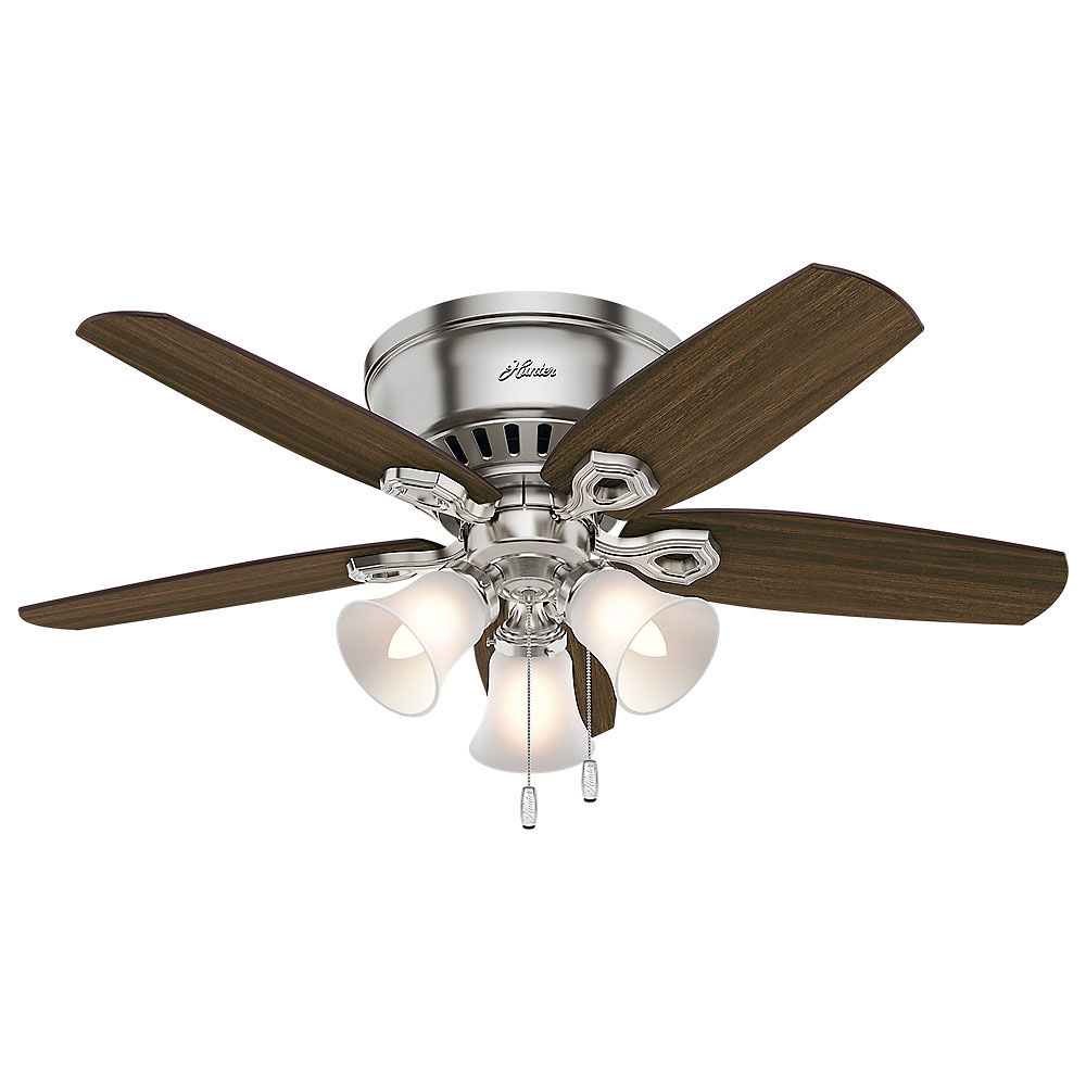42 Indoor Ceiling Fan 5 Reversible Blades And Light Kit Included
