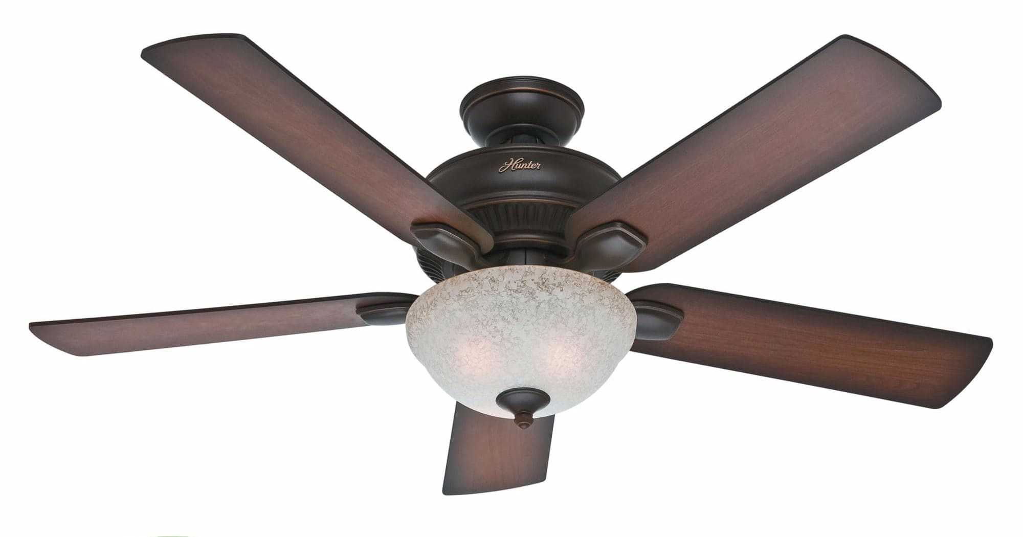 "Hunter Cottage White 52"" Indoor Outdoor Ceiling Fan 5"