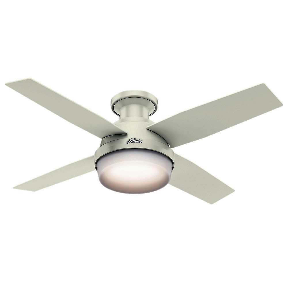 ceiling fan 4 blades. hunter 59244 fresh white dempsey 44\ ceiling fan 4 blades