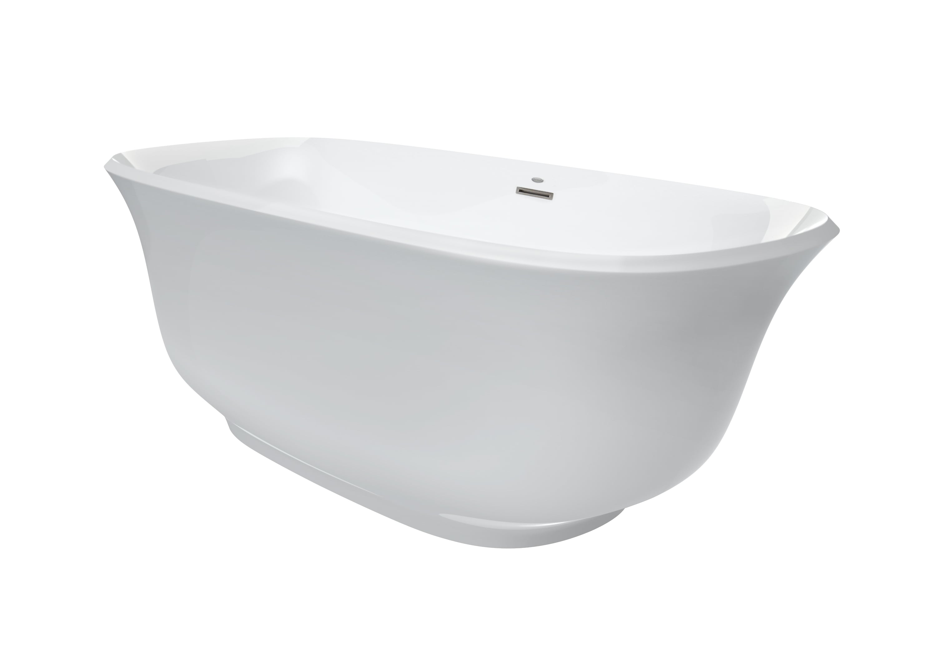 Jacuzzi Azf6731Bcxxxxw White Chrome Azzurro 67 Freestanding Soaking Bathtub With
