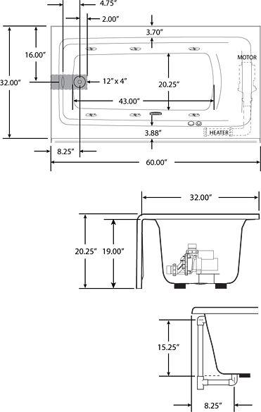 Bathtub Length Mobroicom - Corner bathtub dimensions standard