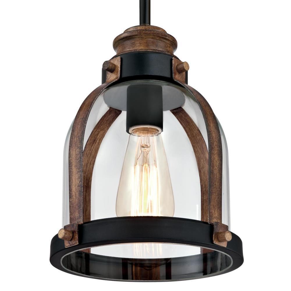 James Allan Wp60483orb Oil Rubbed Bronze Barnwood Lethbridge Single Light 8 Wide Wood Mini Pendant Lightingdirect Com