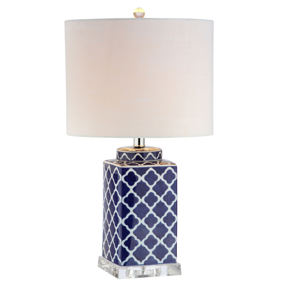 Picture of: Jonathan Y Lighting Jyl3011a Blue White Moroccan Style Led Table Lamp With Quatrefoil Design Lightingdirect Com