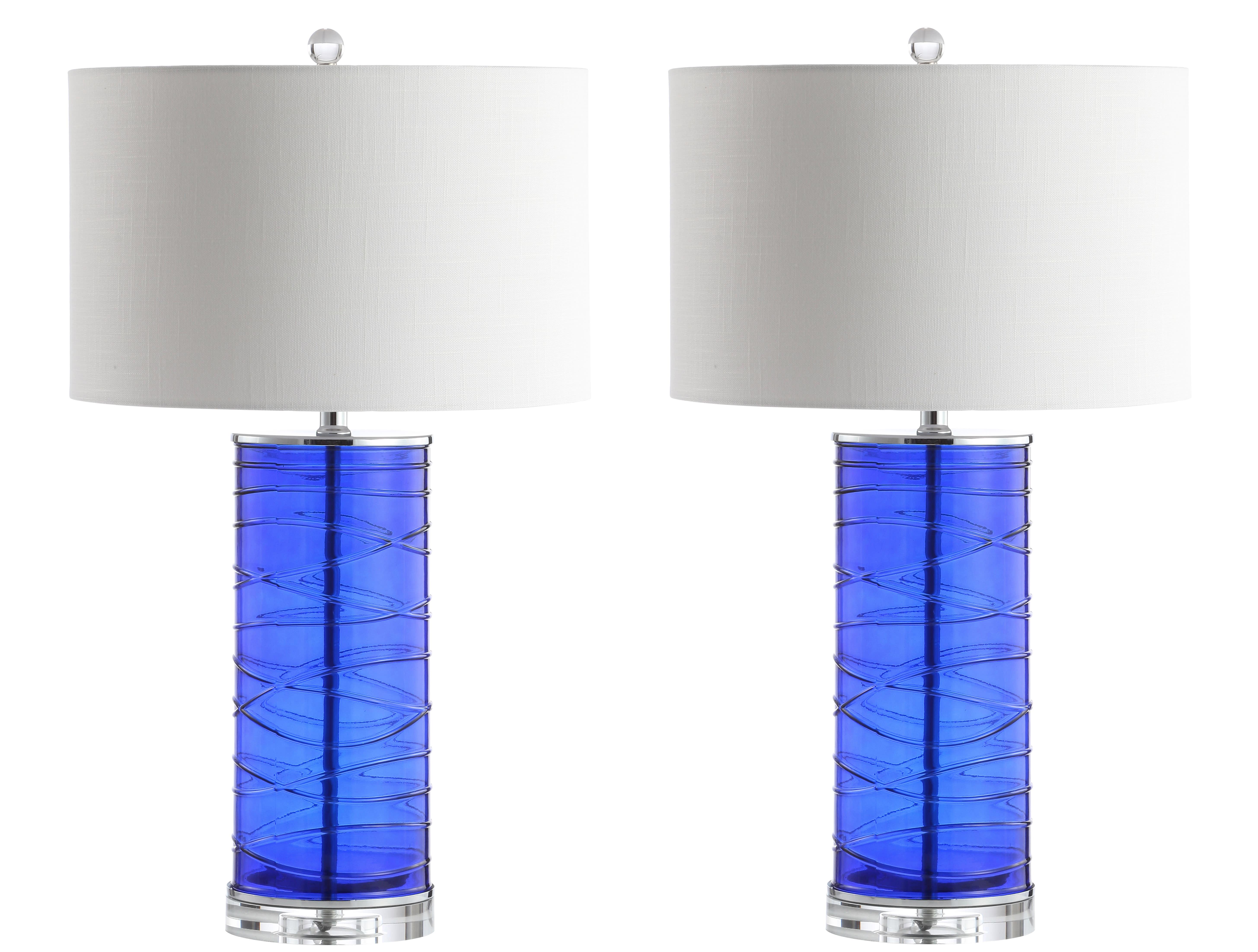 Jonathan Y Lighting Jyl4017d Set2 Chrome Cobalt Cole Led Lamp Set Lightingdirect Com