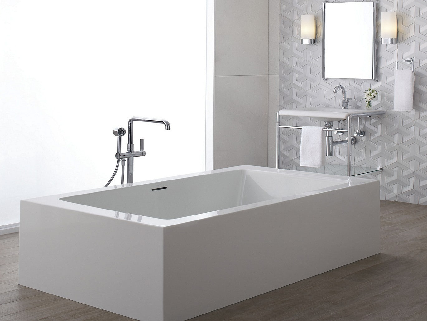 Kallista P24408-00-AD Nickel Silver One 8 GPM Freestanding Tub ...