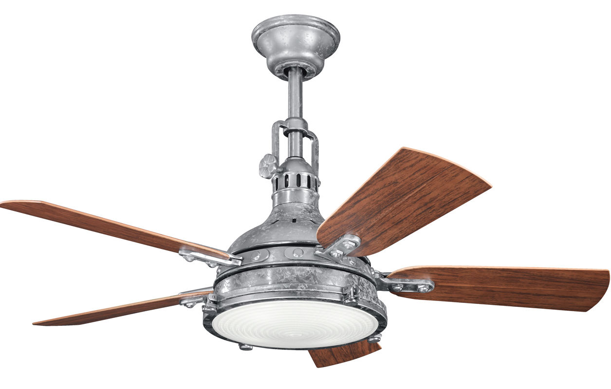 Outdoor ceiling fans lightingdirect hatteras bay patio 44 indoor outdoor ceiling fan with blades light kit and mozeypictures Choice Image