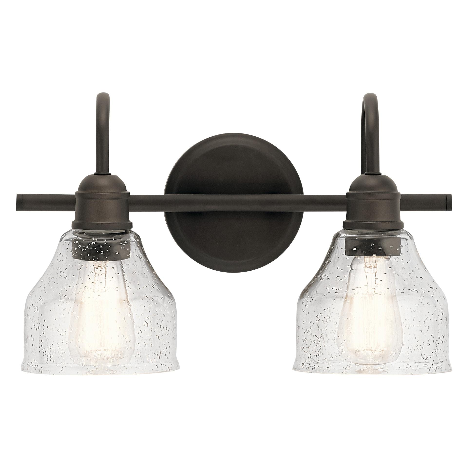 Kichler 45972oz Olde Bronze Avery 2 Light 15 Wide Bathroom Vanity Light Lightingshowplace Com