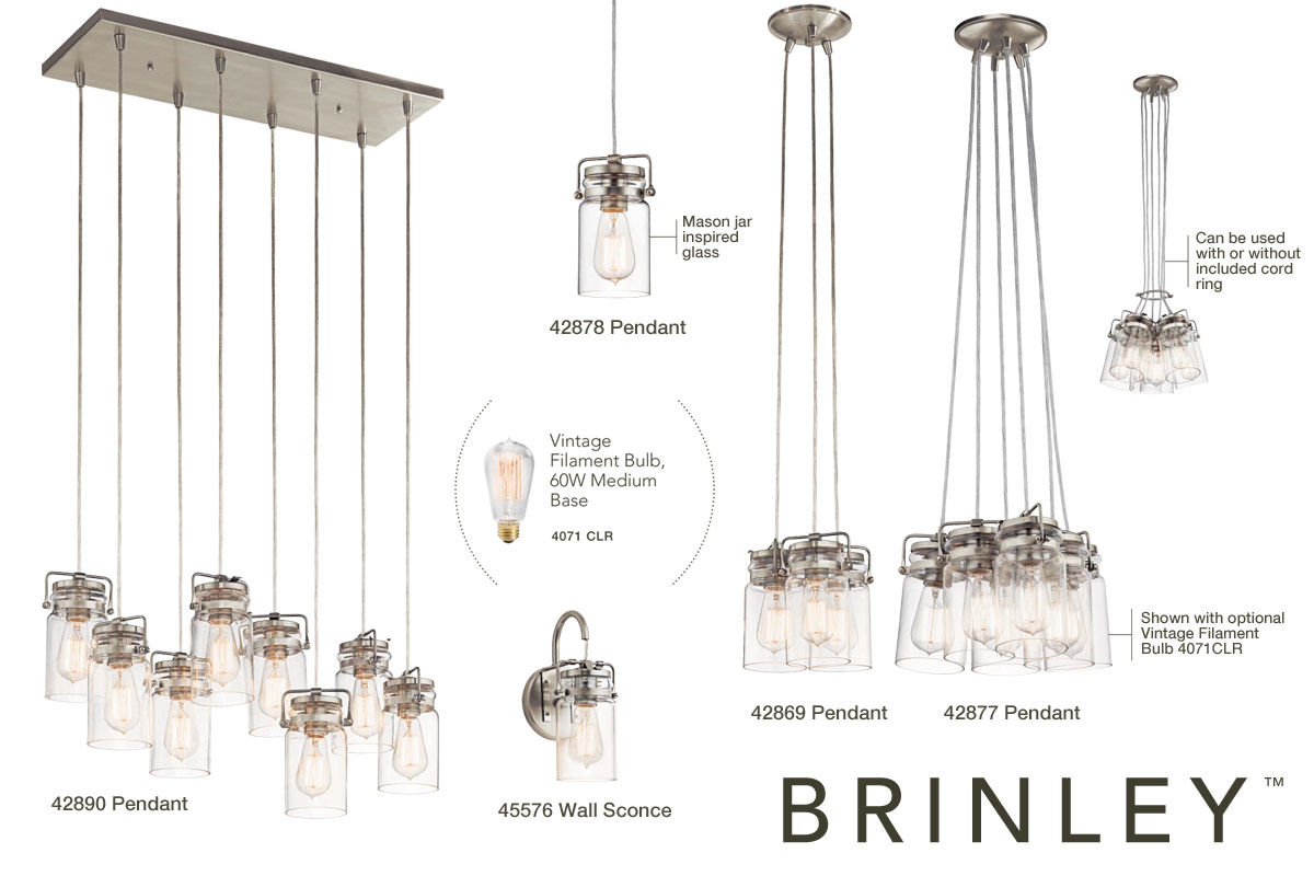 kichler 42877ni brushed nickel brinley 6 light 12 wide pendant with