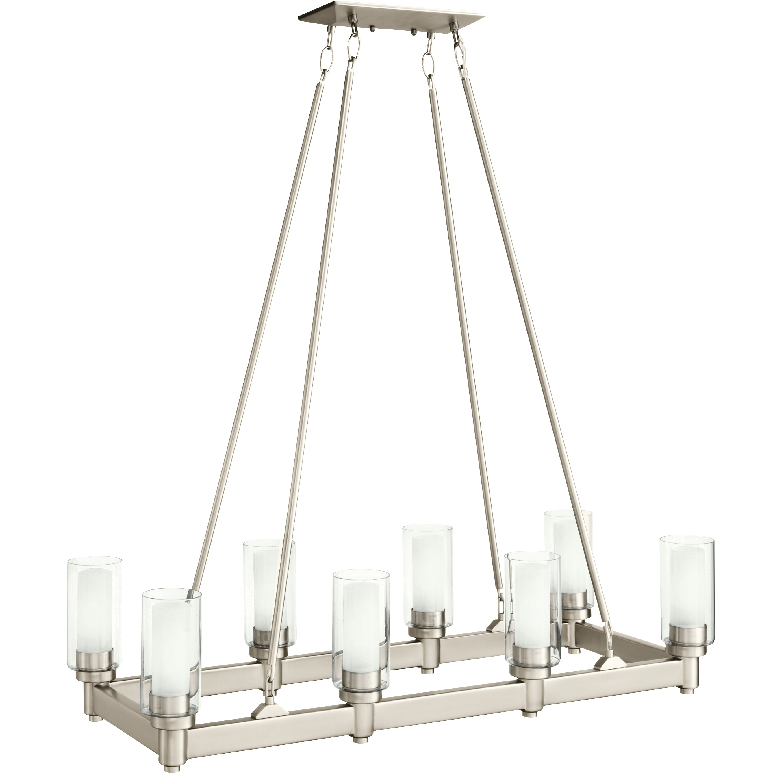 Chandeliers build circolo 8 light 36 wide chandelier with dual cylinder shades arubaitofo Gallery