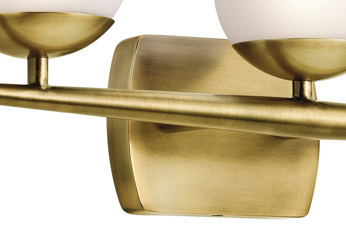 Kichler 45582NBR Natural Brass Jasper 3 Light Bathroom Vanity Light ...