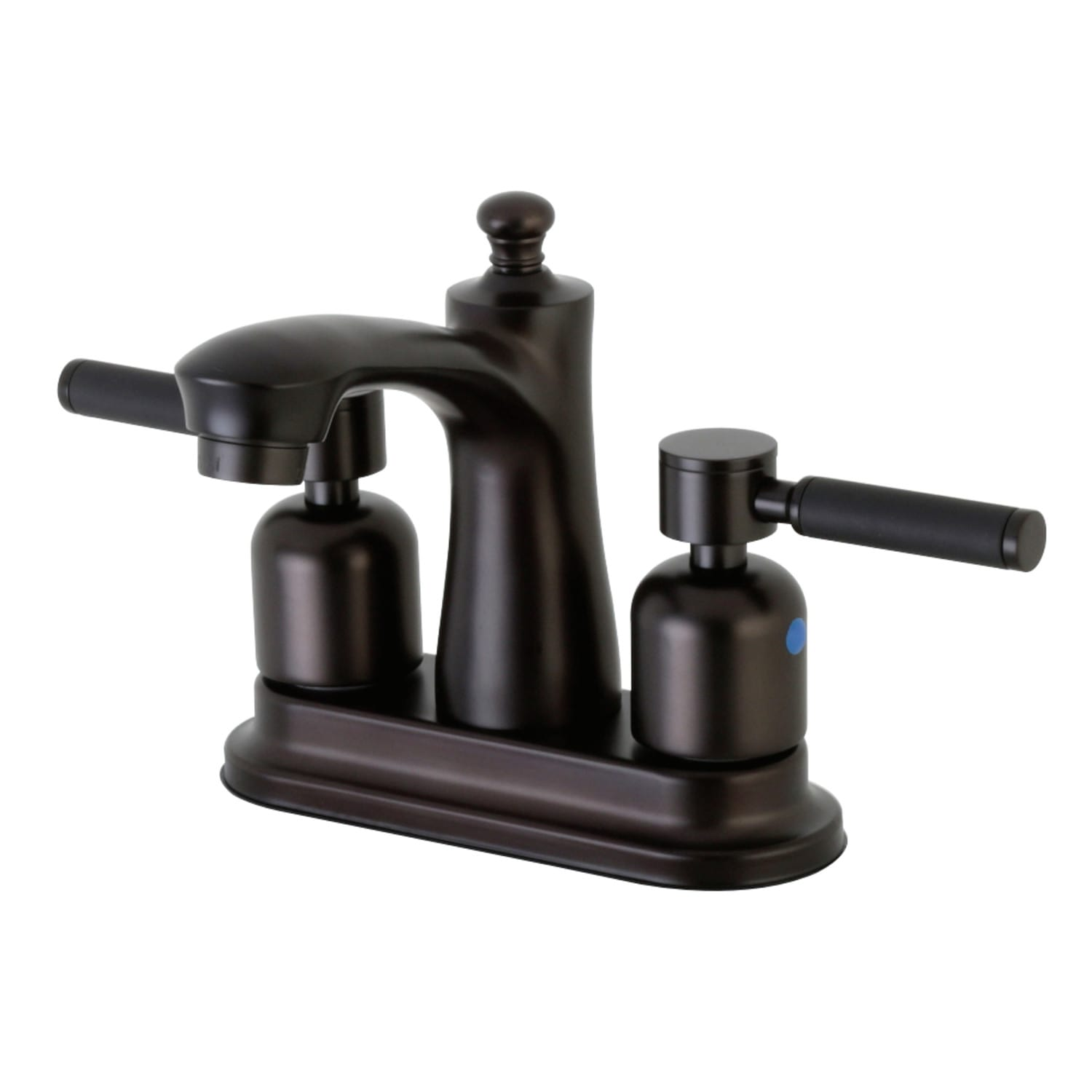 Kingston Brass Fb7625dkl Oil Rubbed Bronze Kaiser 1 2 Gpm Centerset Bathroom Faucet With Rubber Coated Lever Handles Includes Pop Up Drain Assembly Faucet Com
