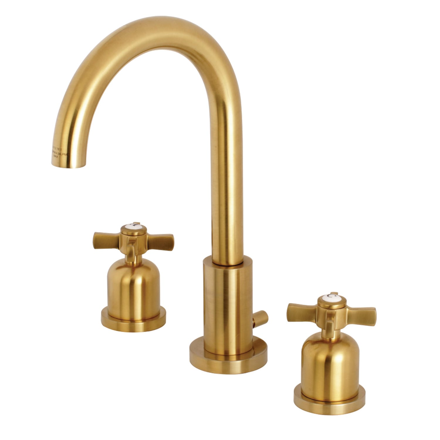 Kingston Brass FSC8923ZX  Millennium 1 2 GPM Deck Mounted Bathroom Faucet. Kingston Brass FSC8923ZX Satin Brass Millennium 1 2 GPM Deck Mounted