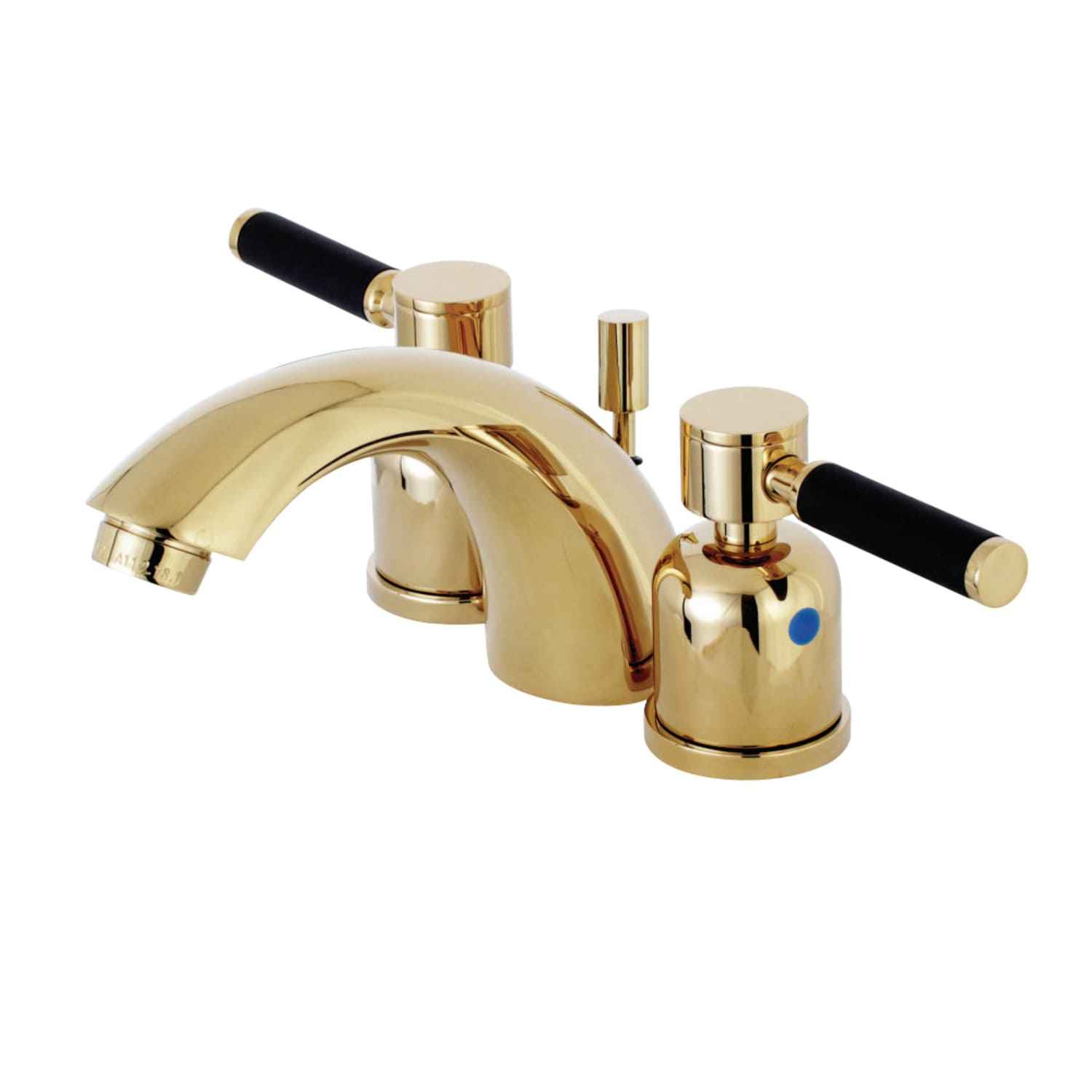 Kingston Brass Kb8952dkl Polished Brass Kaiser 1 2 Gpm Widespread Bathroom Faucet With Rubber Coated Lever Handles Includes Pop Up Drain Assembly Faucet Com