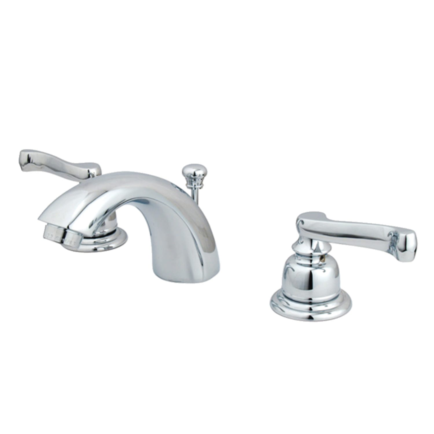 Kingston Brass Kb952fl Polished Brass Royale 1 2 Gpm Widespread Bathroom Faucet With Pop Up Drain Assembly Faucet Com