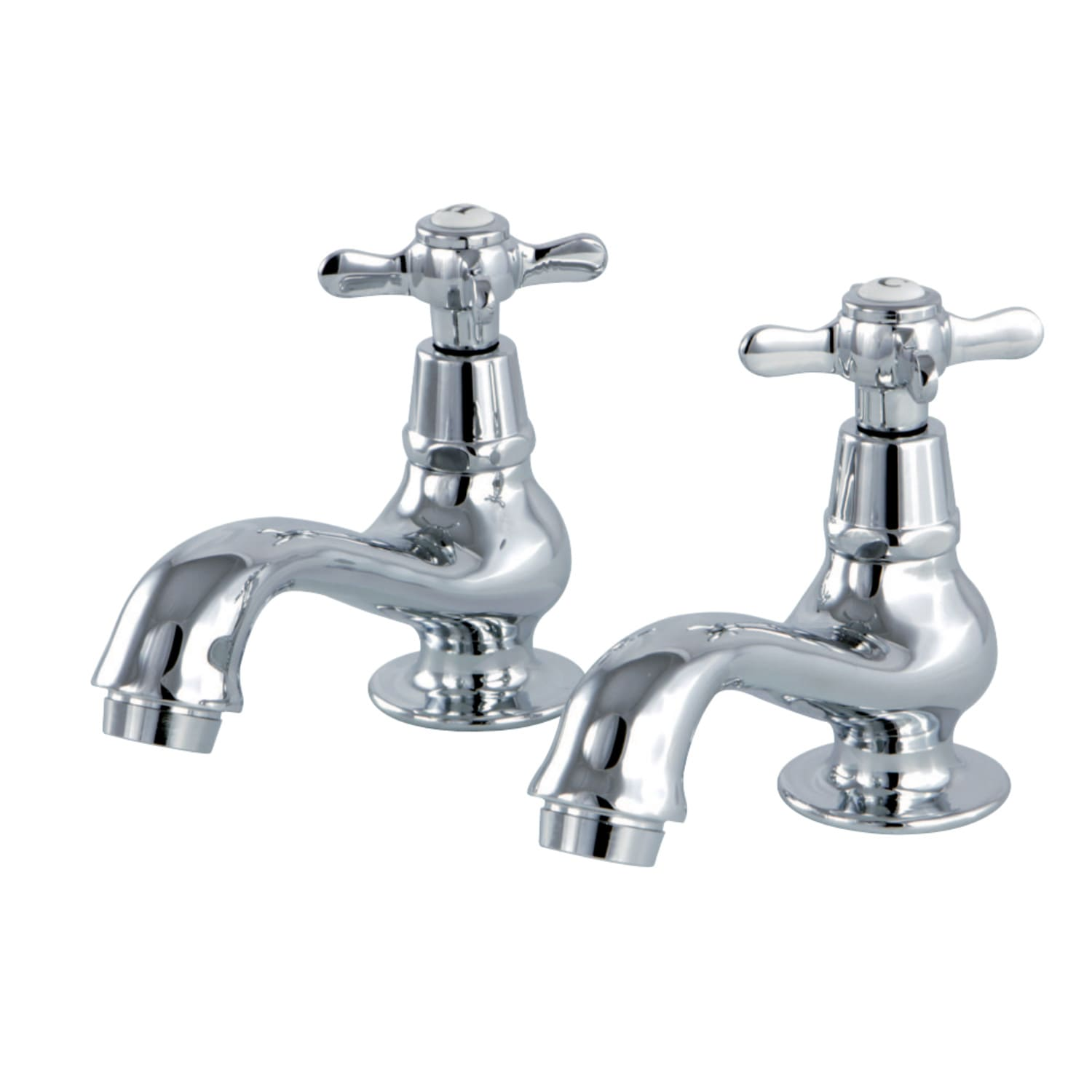 Kingston Brass KS1108BEX Essex Basin Tap Faucet with Cross Handle Brushed Nickel