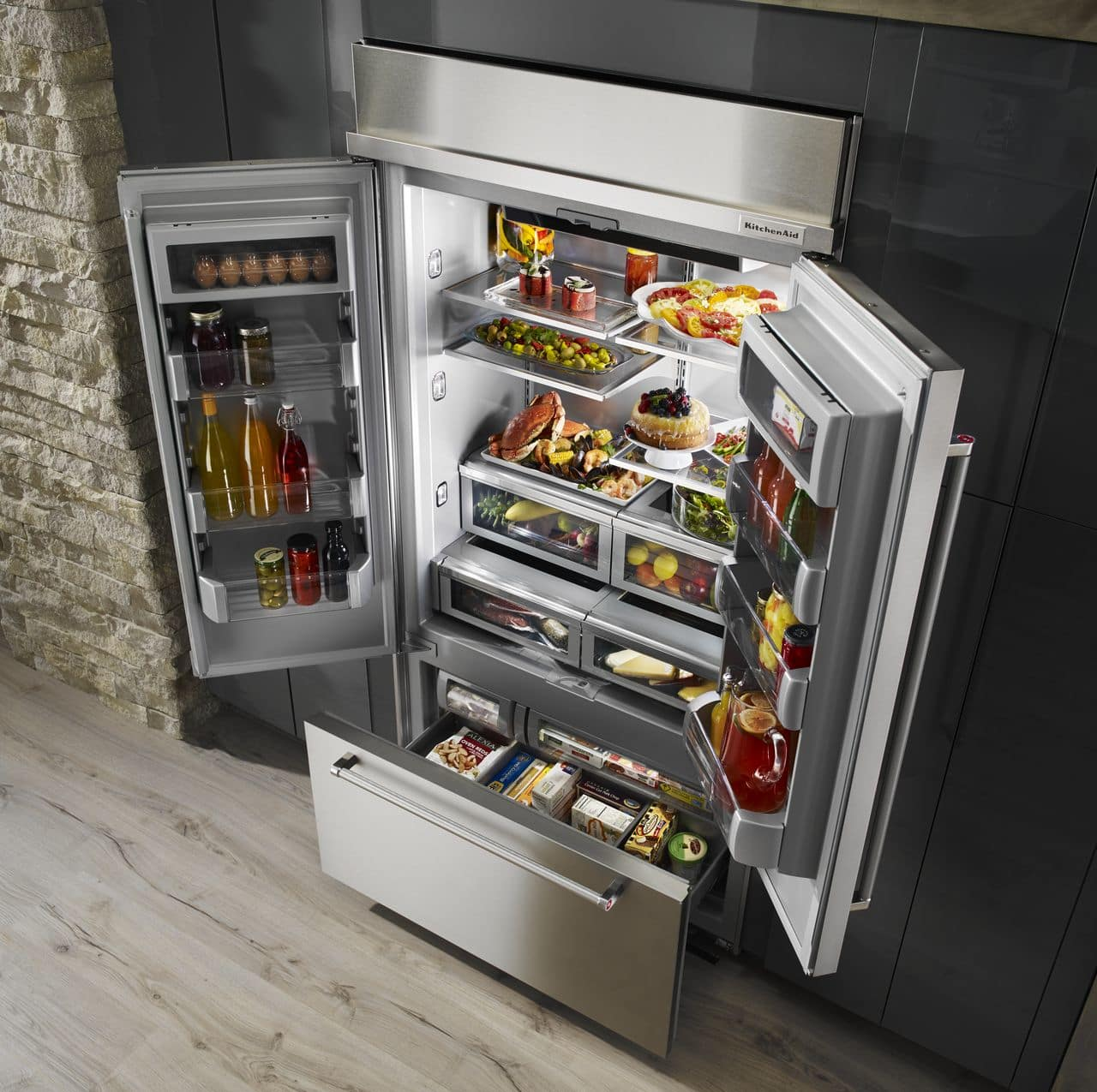 door inch built kitchenaid store in french view rc willey jsp rcwilley refrigerator panel appliances furniture ready doors refrigerators