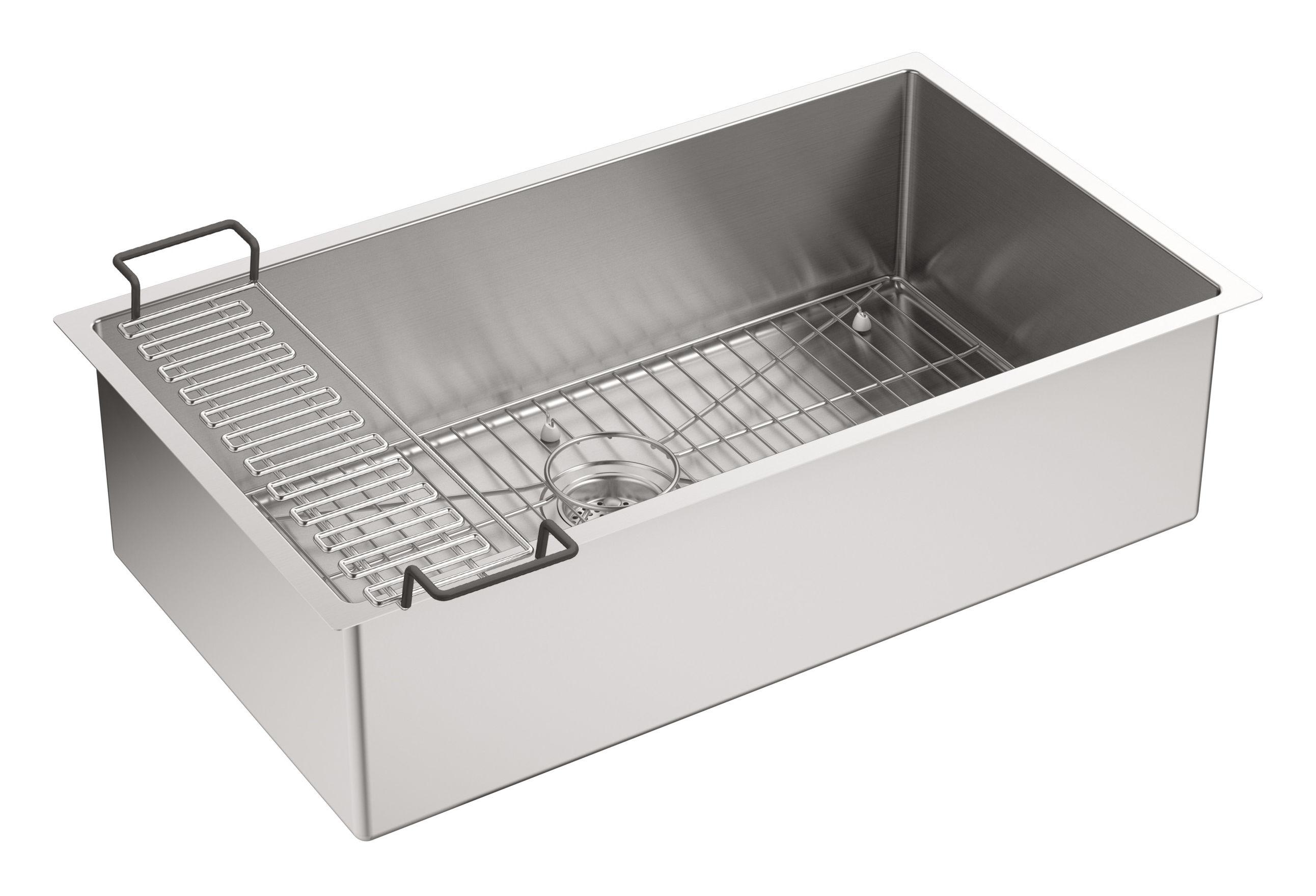 Kohler Stainless Steel Kitchen Sinks kohler k-5285 kitchen sink - build
