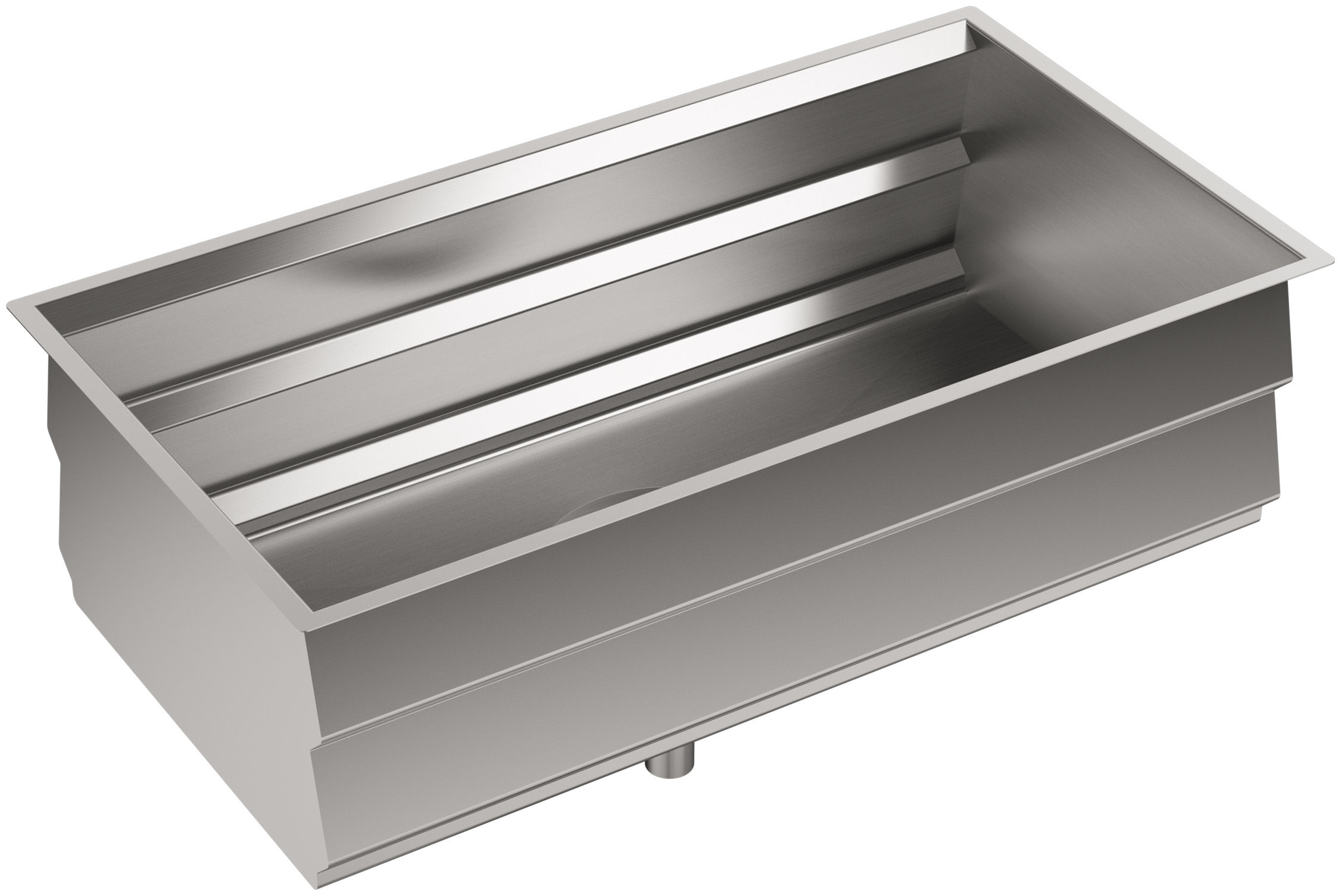 "Kohler Stainless Steel Kitchen Sinks kohler k-5540-na stainless steel prolific 33"" single basin"
