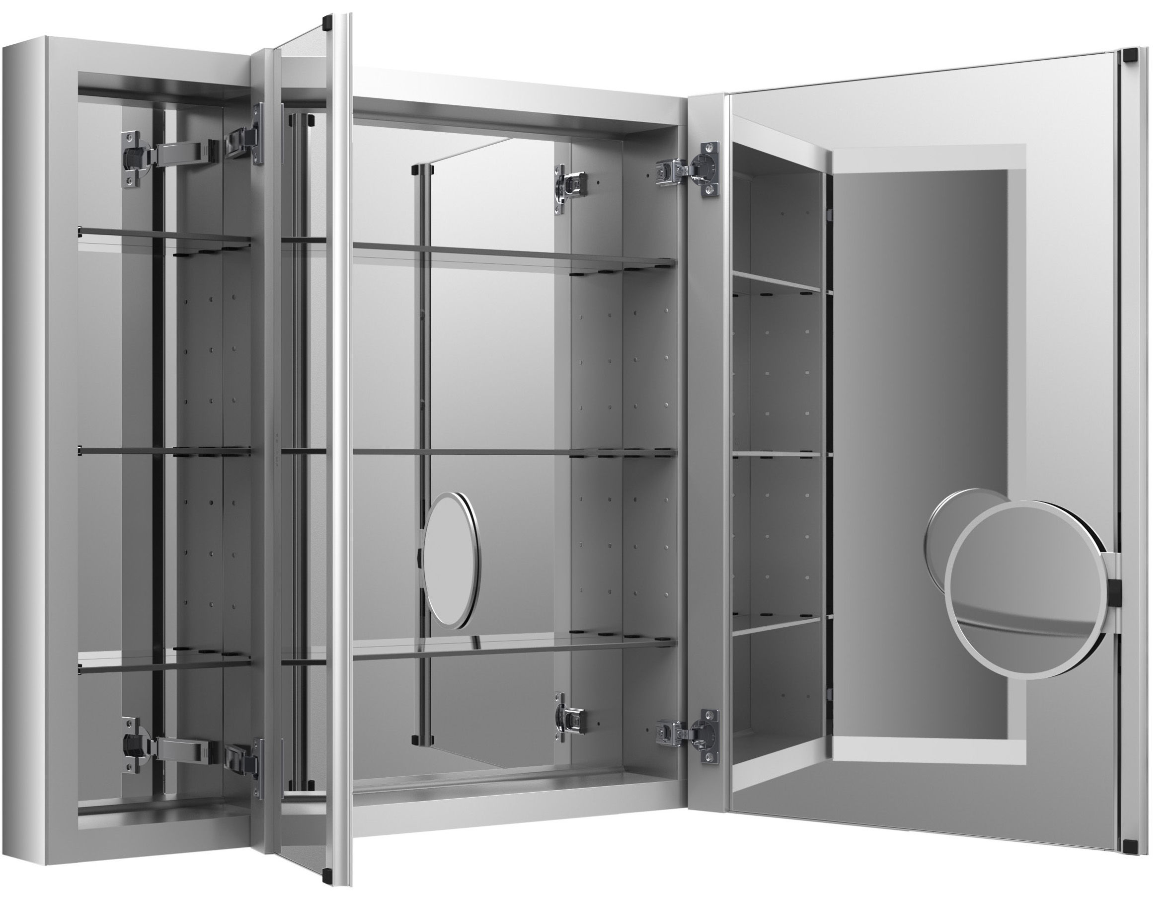 Kohler k 99011 na na 40 x 30 triple door reversible hinge kohler k 99011 na na 40 x 30 triple door reversible hinge frameless mirrored medicine cabinet from the verdera collection faucetdirect vtopaller Gallery