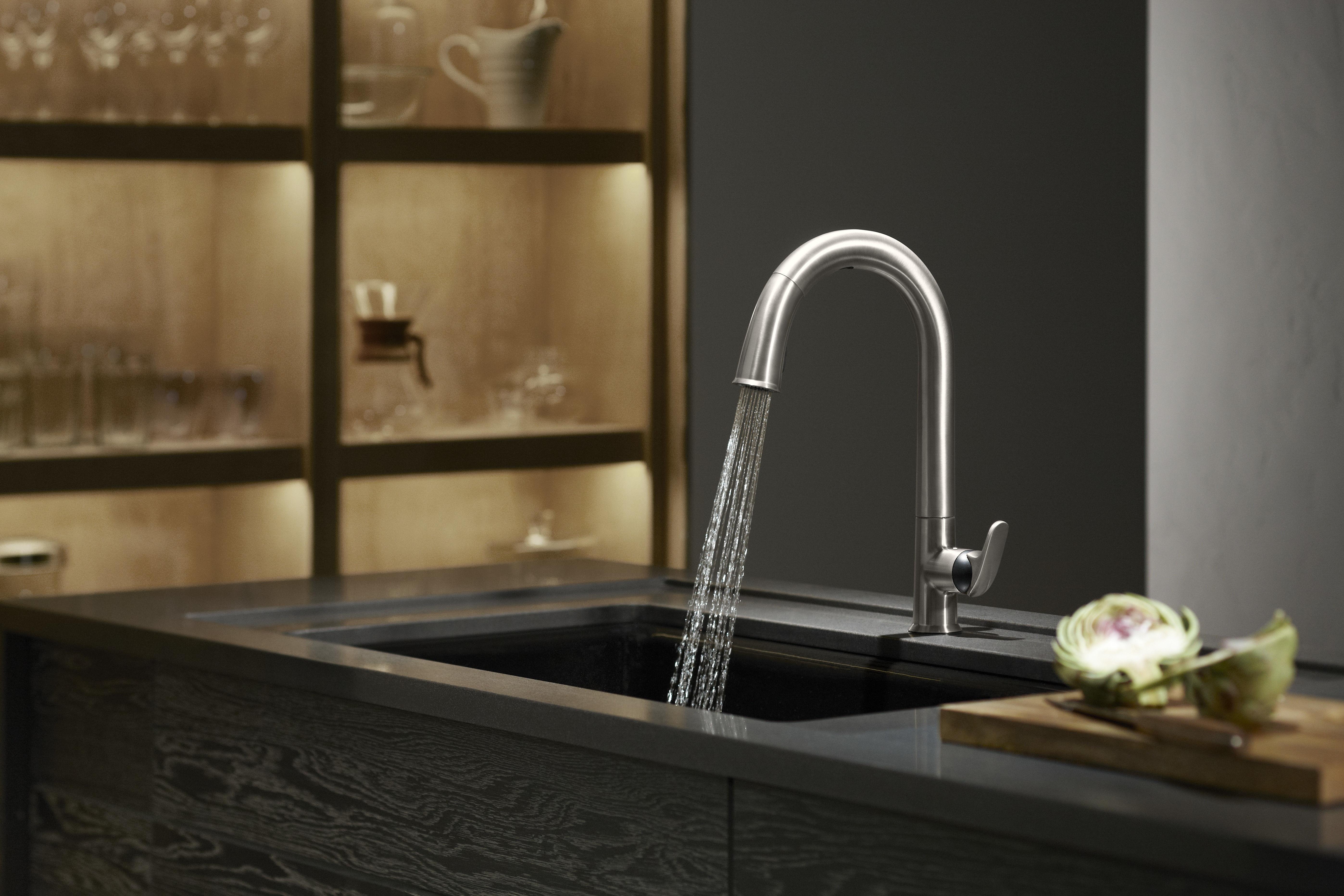 Kohler K-72218-VS Vibrant Stainless Sensate Touchless Kitchen Faucet ...