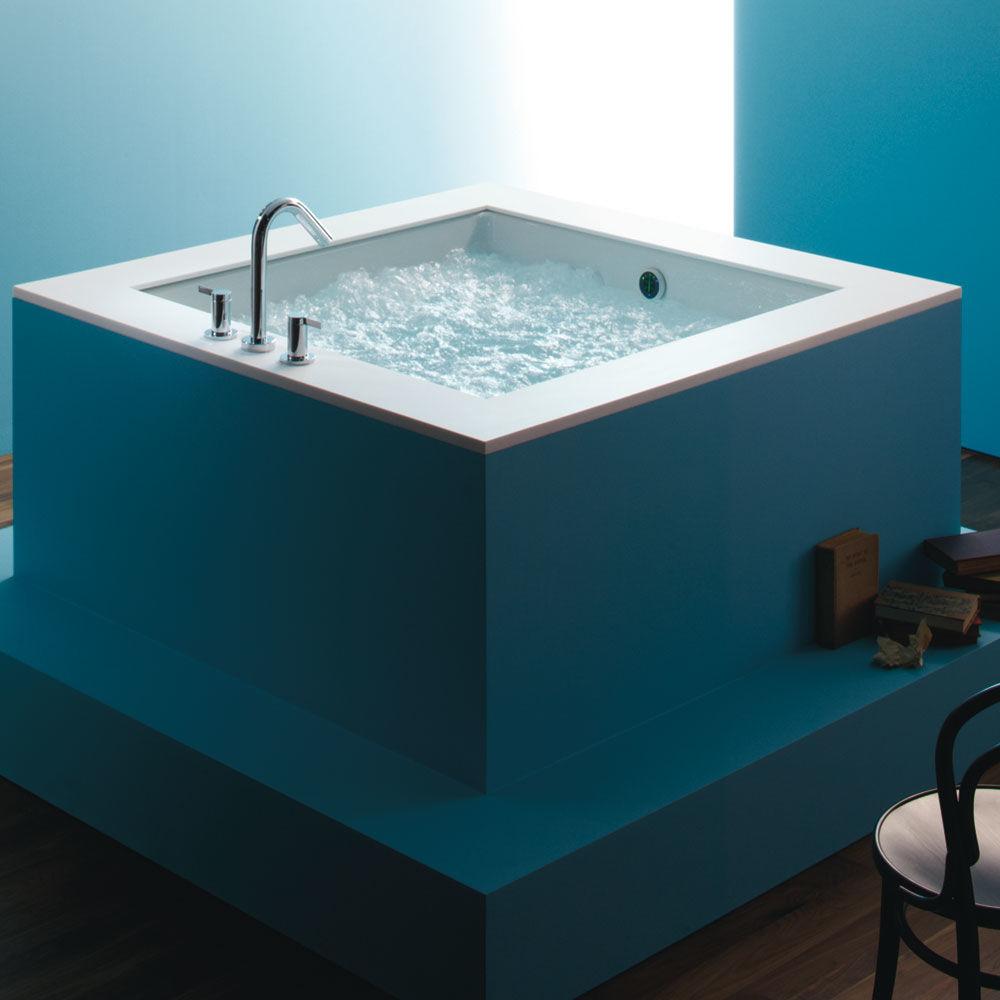 Kohler K-1968-0 White Drop In Cube Soaking Bath Tub from the ...