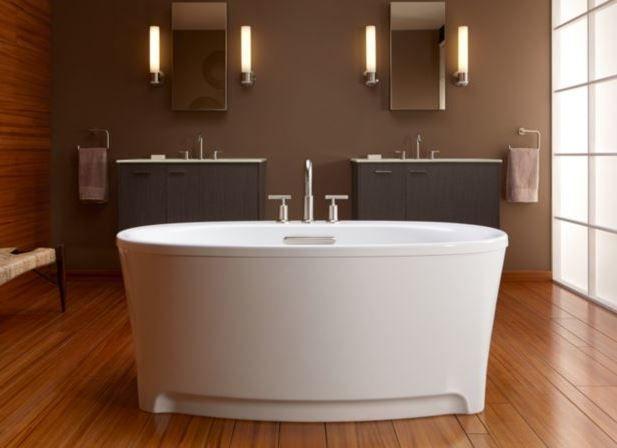 Kohler K-5701-96 Biscuit Underscore 5\' Free Standing Soaking Tub ...
