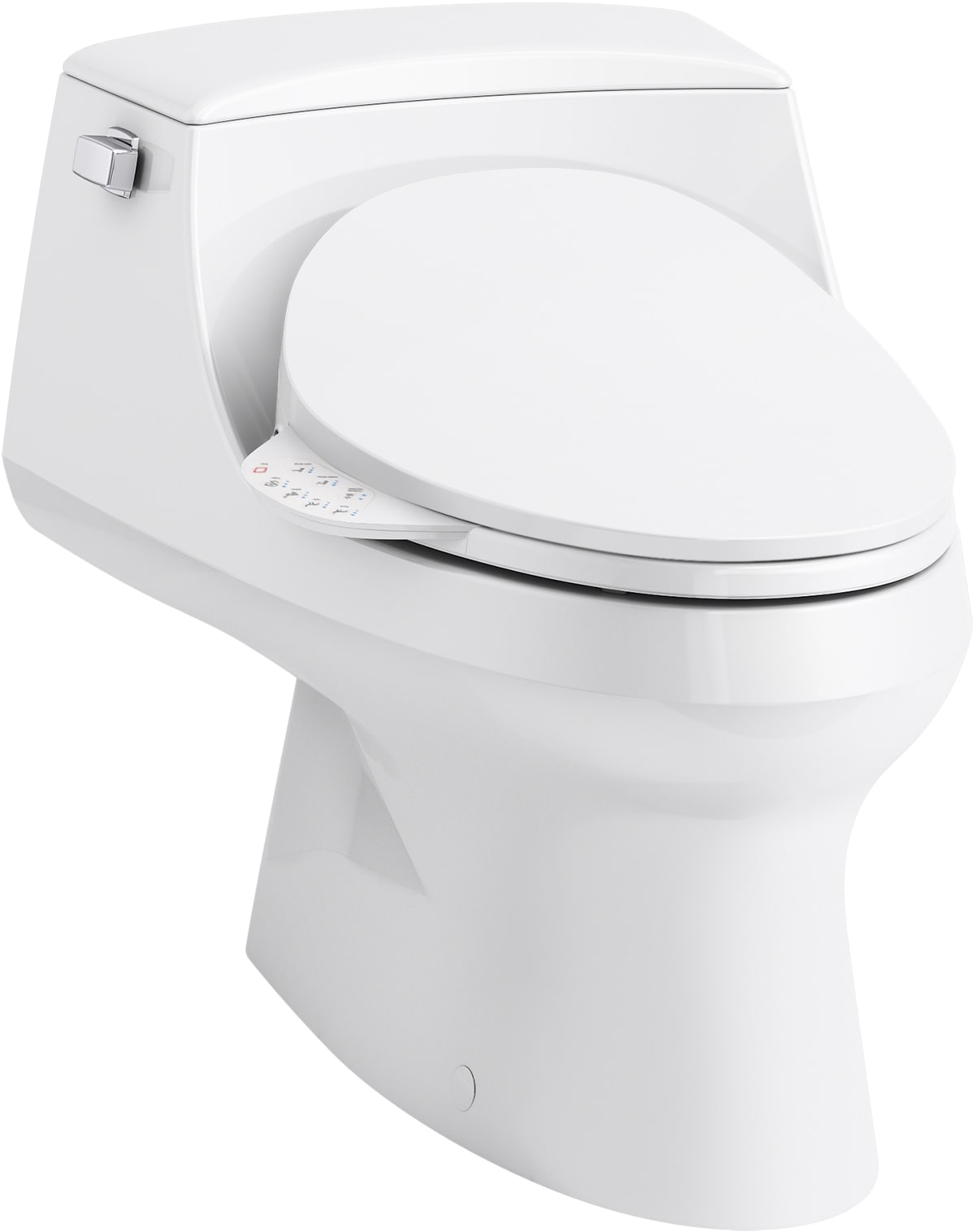 Kohler K 3722 4108 0 White San Raphael 1 Piece 1 28 Gpf Elongated Toilet With C3 230 Electric Bidet Toilet Seat Faucet Com
