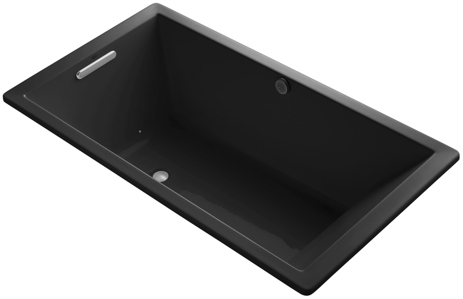 Kohler K 1173 Ghw 58 Thunder Grey Underscore Rectangle 66 Drop In Acrylic Air Tub With Reversible Drain Faucetdirect Com