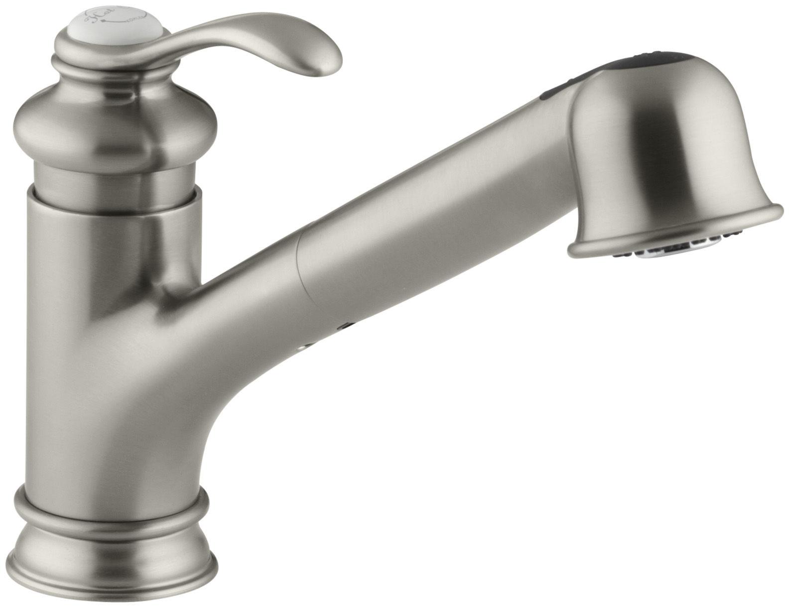 Kohler K BX Brazen Bronze Fairfax Pull Out Kitchen Faucet