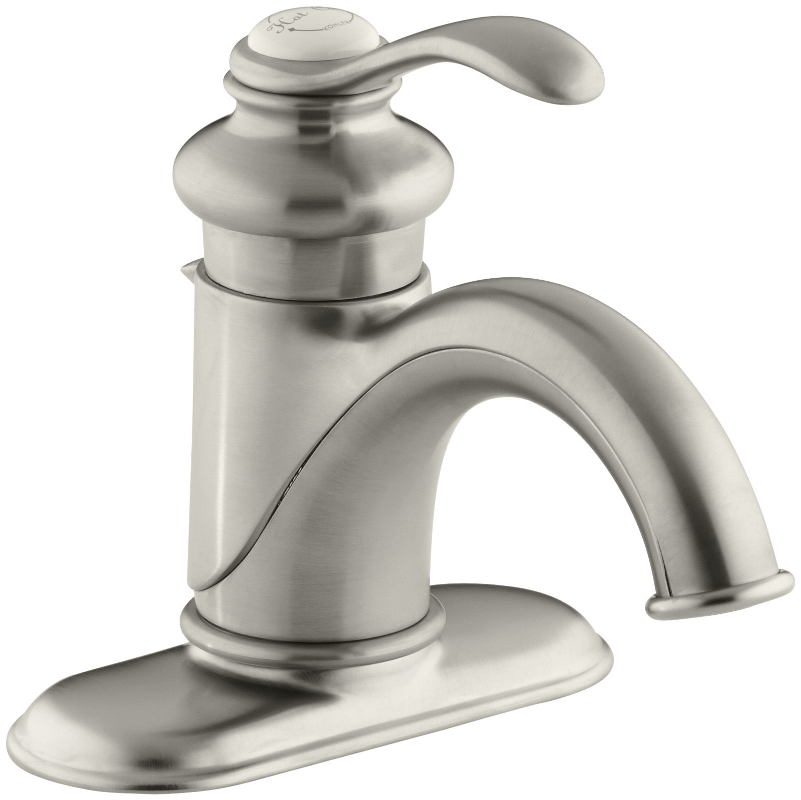Kohler K 12181 Bv Brushed Bronze Fairfax Single Hole Bathroom Faucet